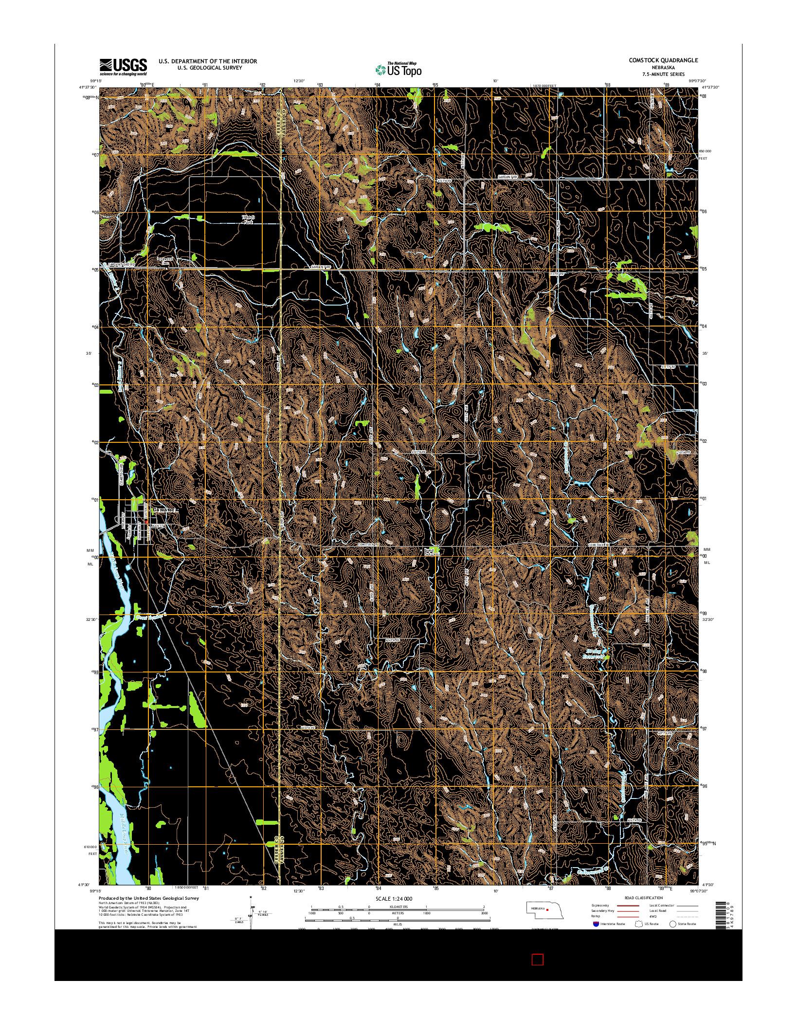 USGS US TOPO 7.5-MINUTE MAP FOR COMSTOCK, NE 2014