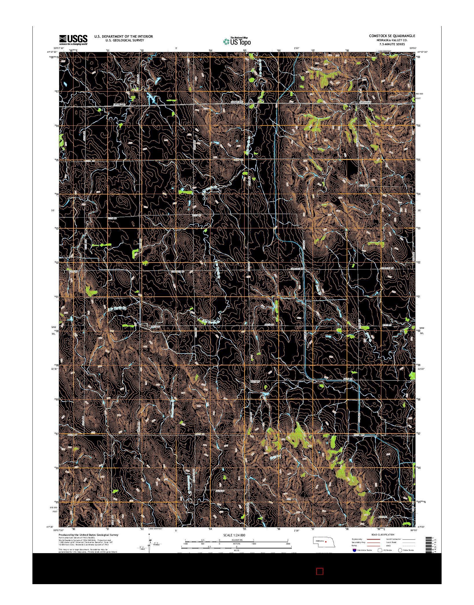 USGS US TOPO 7.5-MINUTE MAP FOR COMSTOCK SE, NE 2014