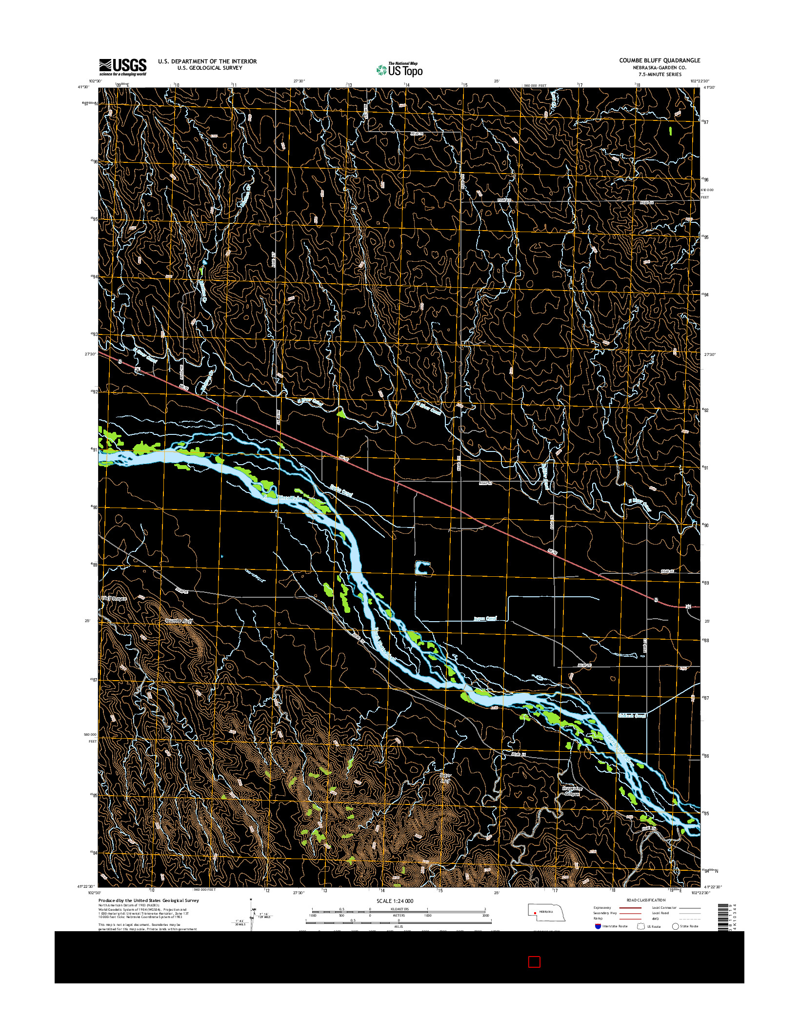USGS US TOPO 7.5-MINUTE MAP FOR COUMBE BLUFF, NE 2014
