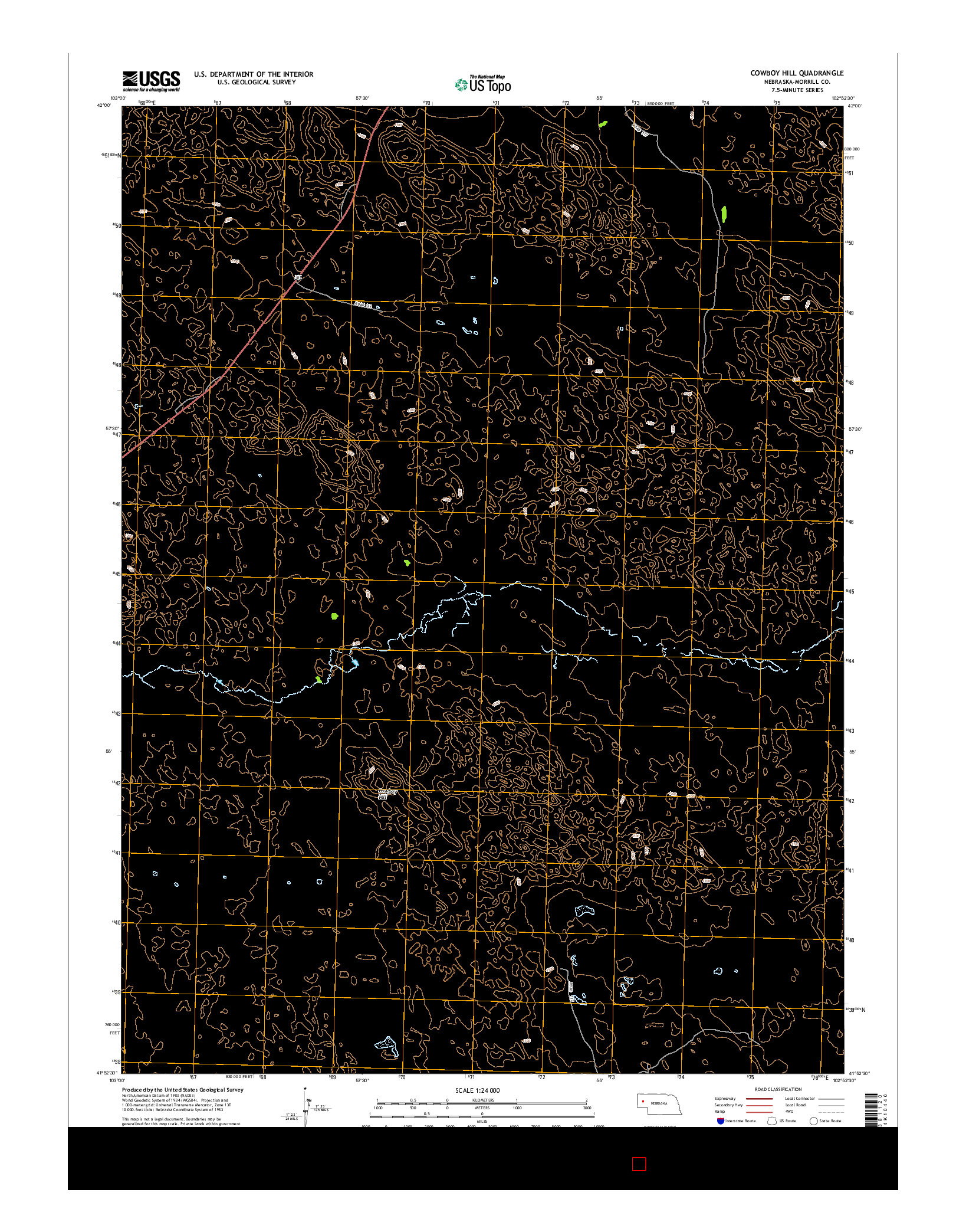 USGS US TOPO 7.5-MINUTE MAP FOR COWBOY HILL, NE 2014