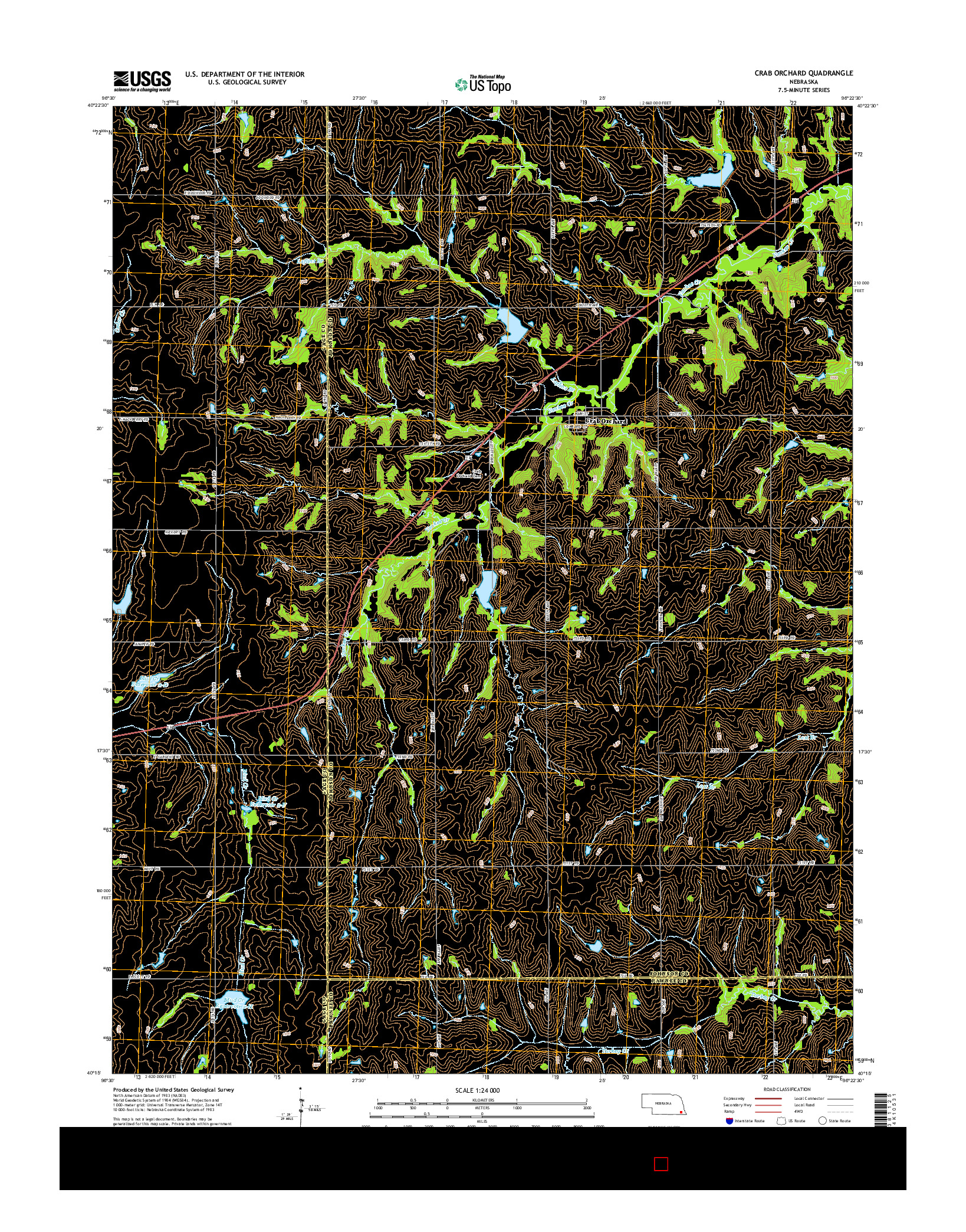 USGS US TOPO 7.5-MINUTE MAP FOR CRAB ORCHARD, NE 2014