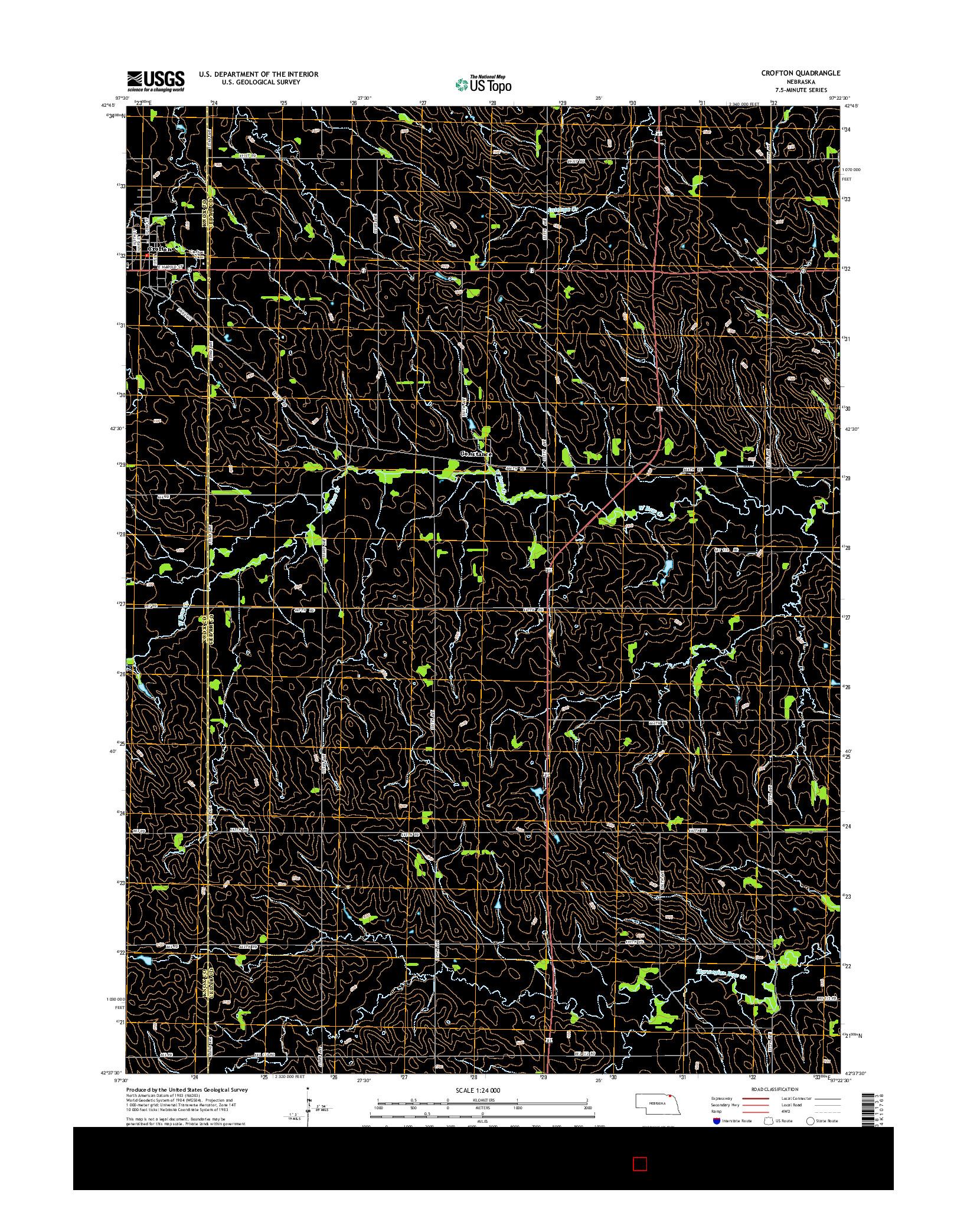 USGS US TOPO 7.5-MINUTE MAP FOR CROFTON, NE 2014