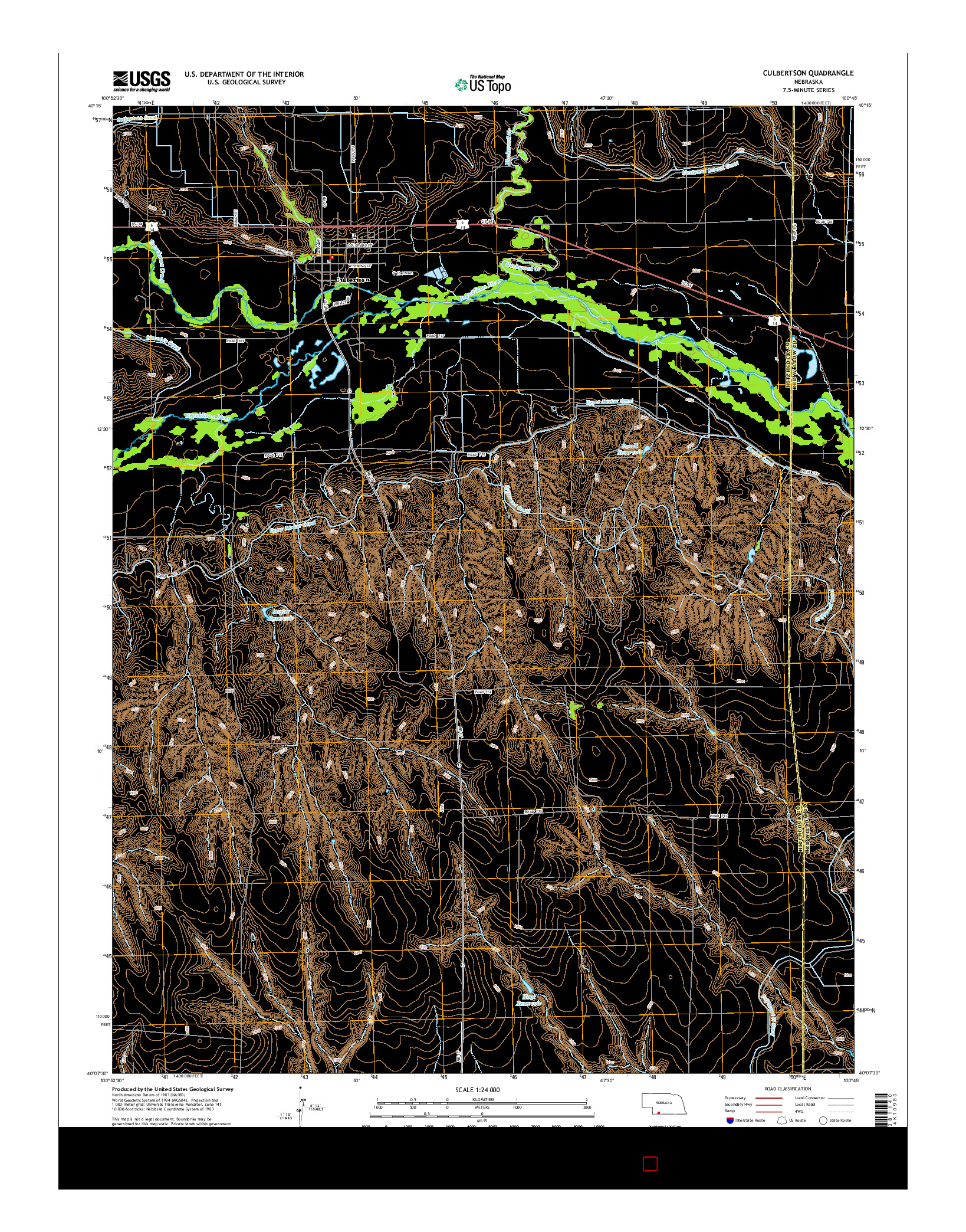 USGS US TOPO 7.5-MINUTE MAP FOR CULBERTSON, NE 2014