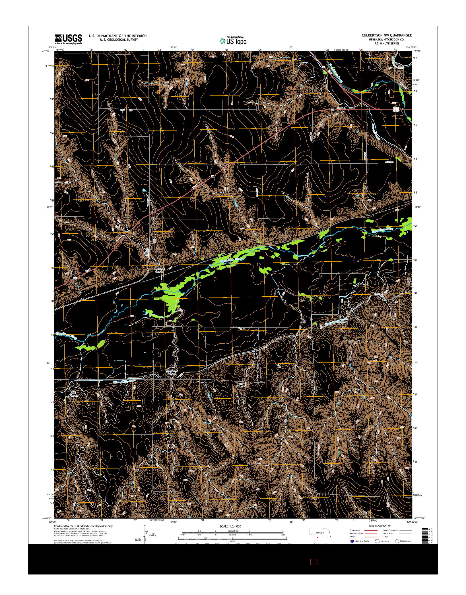 USGS US TOPO 7.5-MINUTE MAP FOR CULBERTSON NW, NE 2014