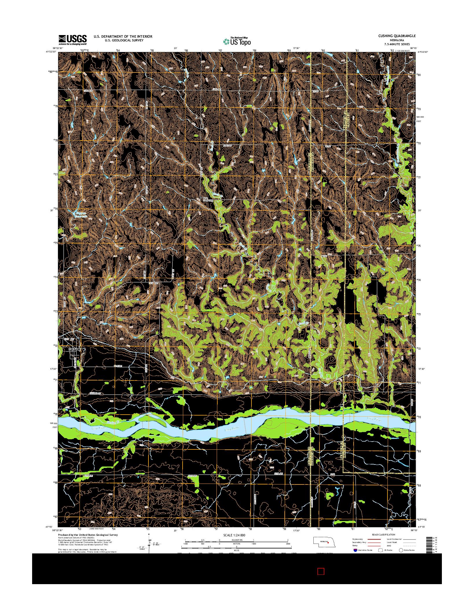 USGS US TOPO 7.5-MINUTE MAP FOR CUSHING, NE 2014