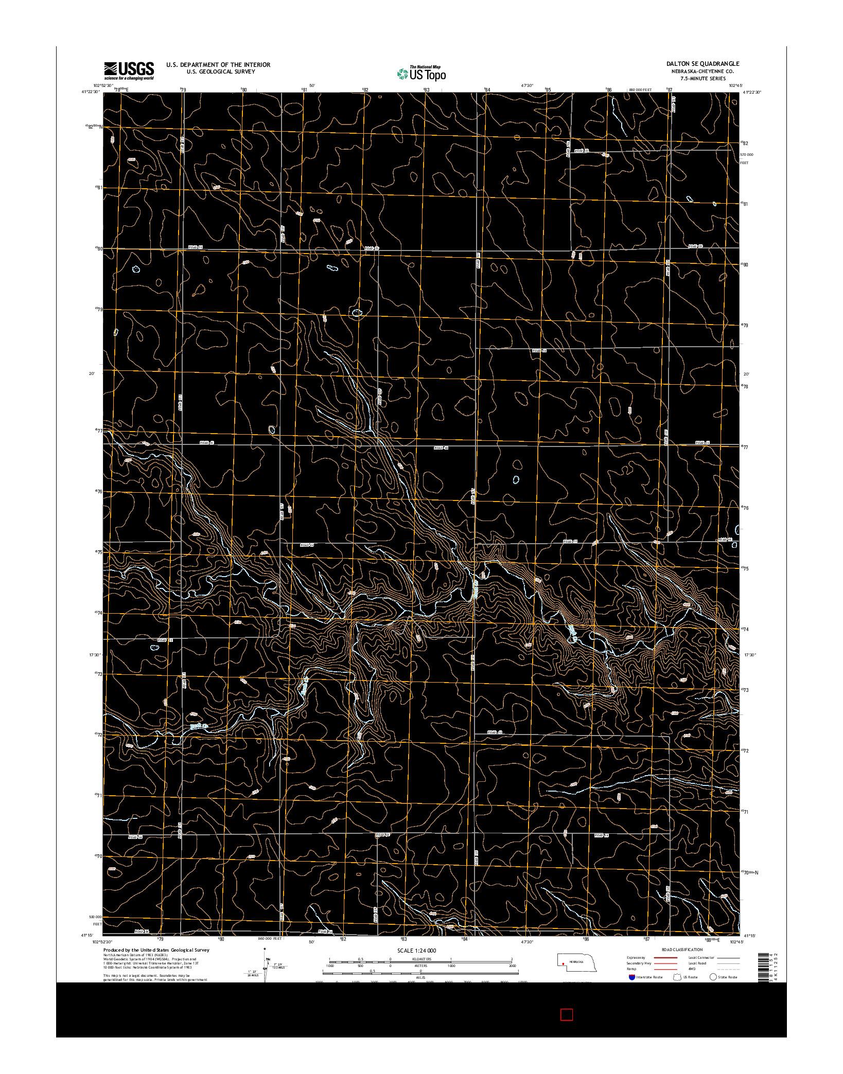 USGS US TOPO 7.5-MINUTE MAP FOR DALTON SE, NE 2014