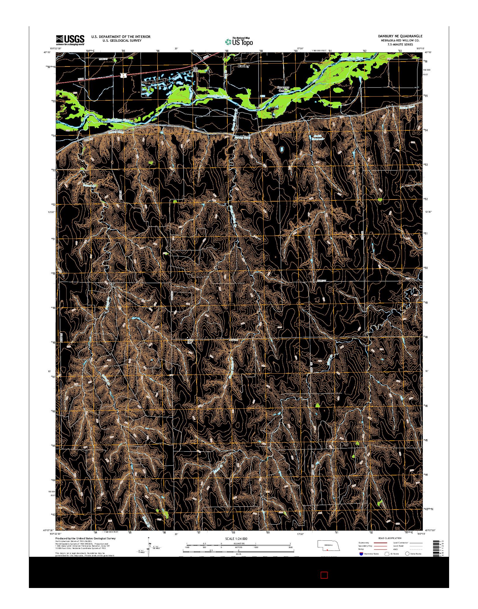 USGS US TOPO 7.5-MINUTE MAP FOR DANBURY NE, NE 2014