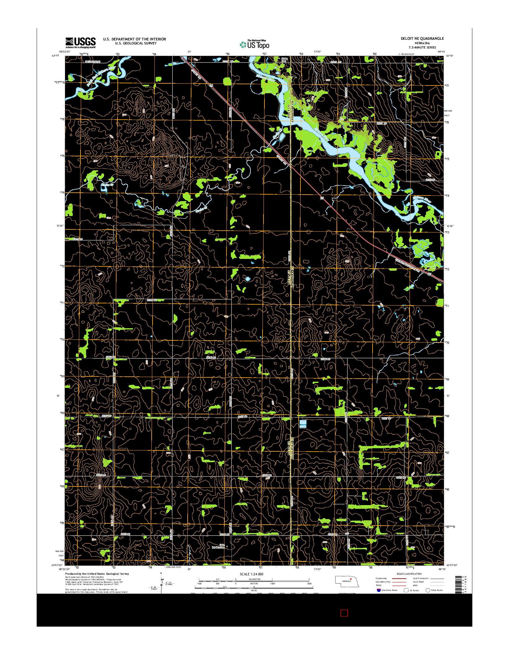 USGS US TOPO 7.5-MINUTE MAP FOR DELOIT NE, NE 2014