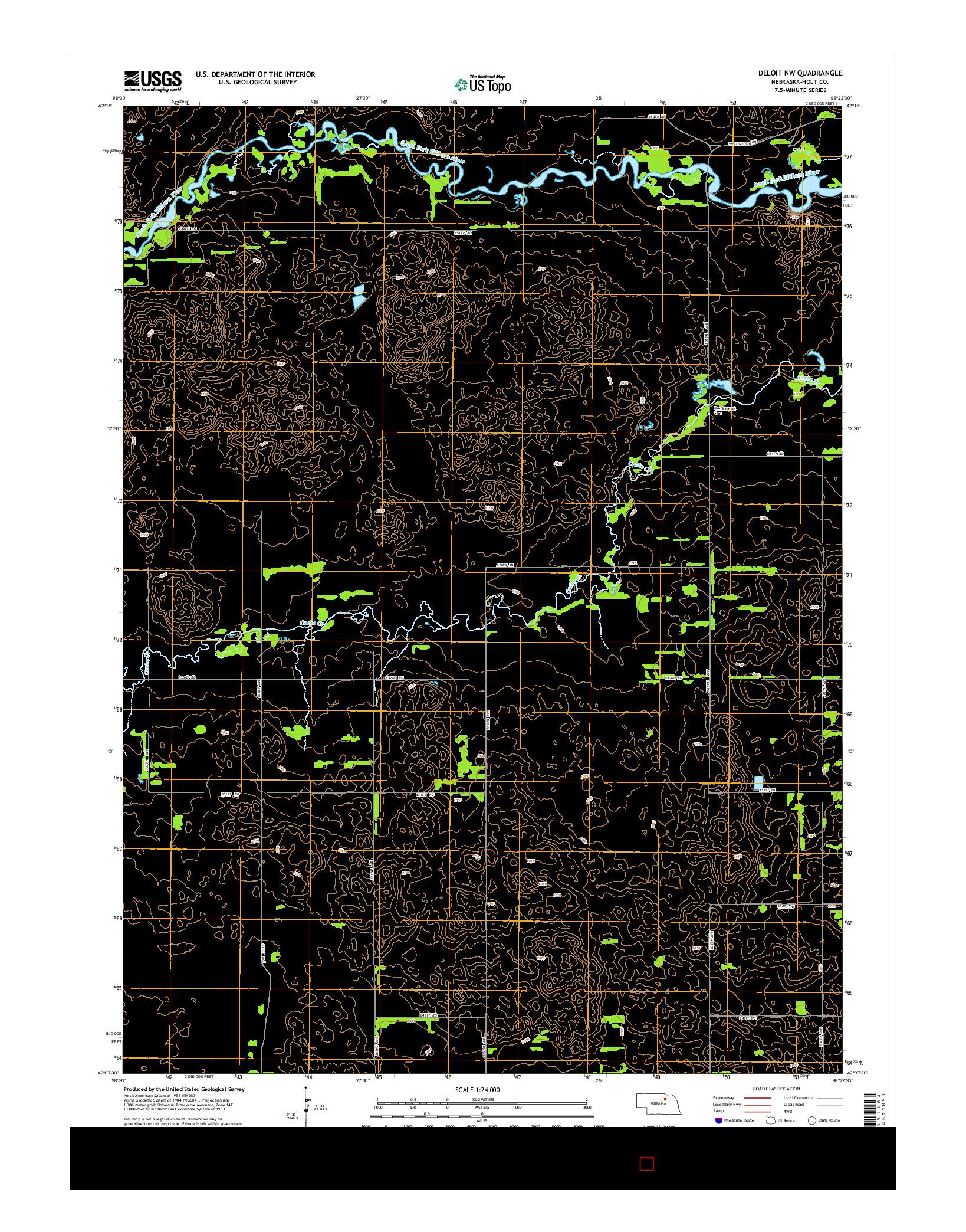USGS US TOPO 7.5-MINUTE MAP FOR DELOIT NW, NE 2014