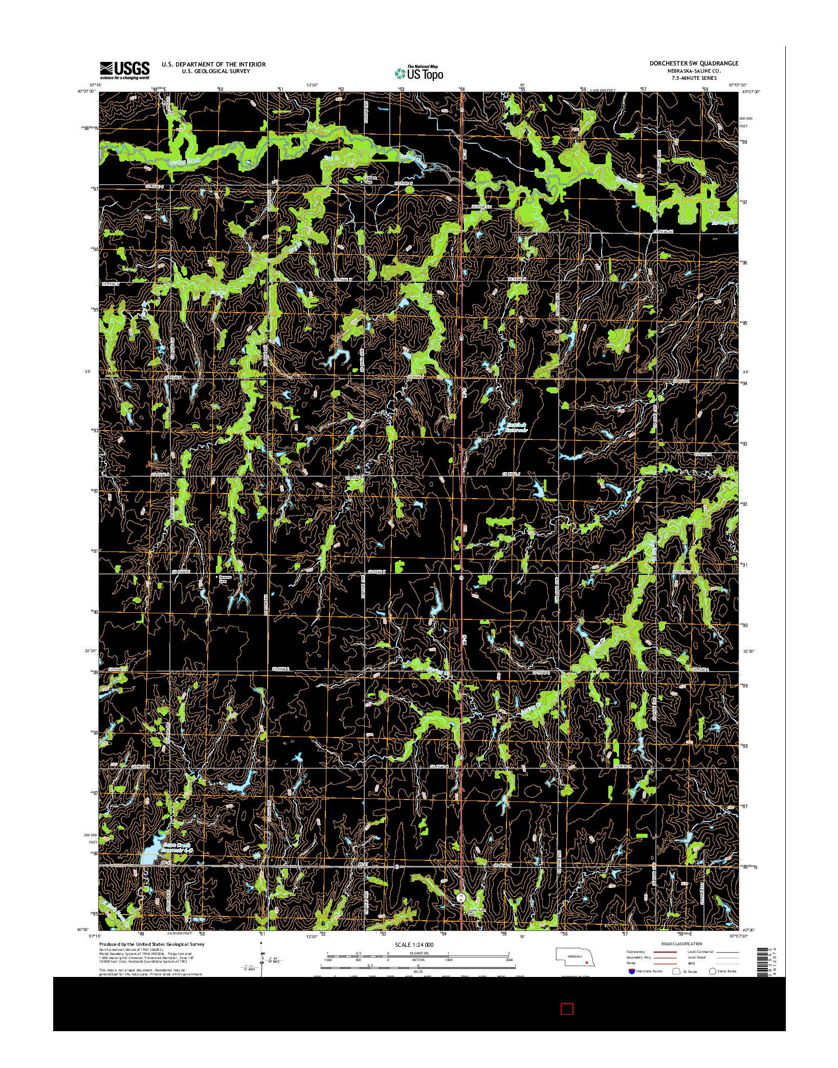 USGS US TOPO 7.5-MINUTE MAP FOR DORCHESTER SW, NE 2014