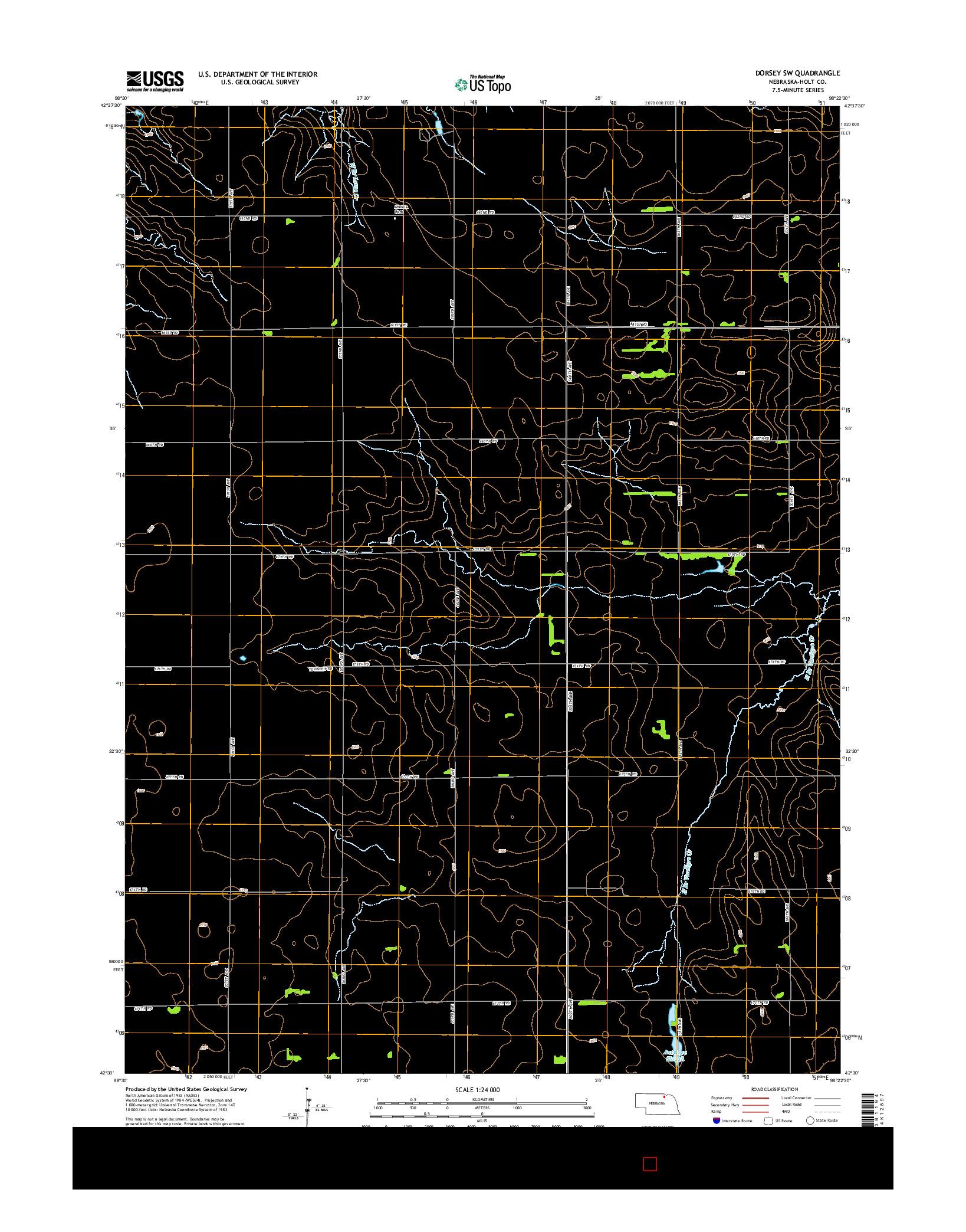 USGS US TOPO 7.5-MINUTE MAP FOR DORSEY SW, NE 2014