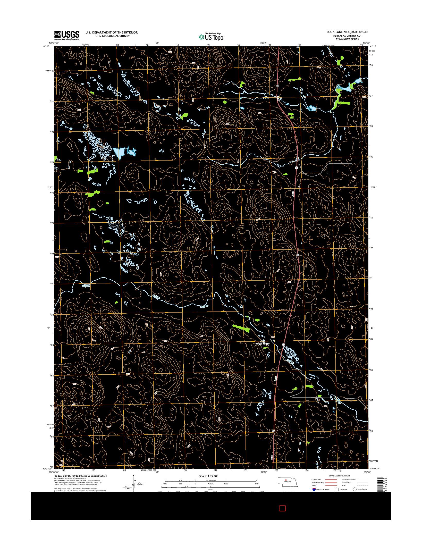 USGS US TOPO 7.5-MINUTE MAP FOR DUCK LAKE NE, NE 2014
