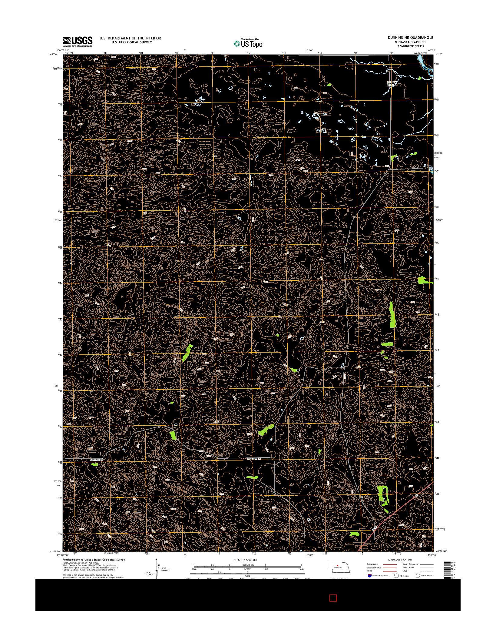 USGS US TOPO 7.5-MINUTE MAP FOR DUNNING NE, NE 2014
