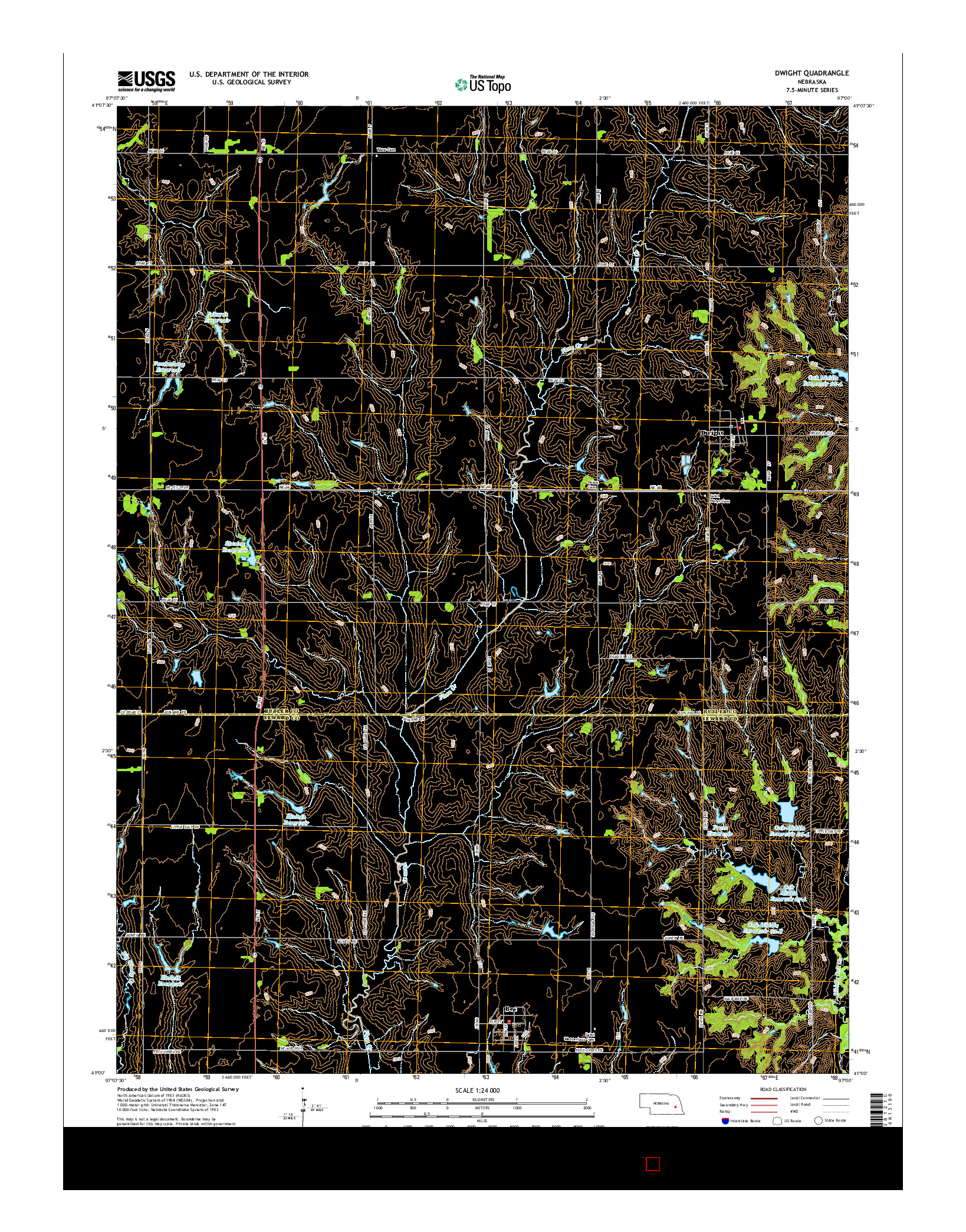 USGS US TOPO 7.5-MINUTE MAP FOR DWIGHT, NE 2014