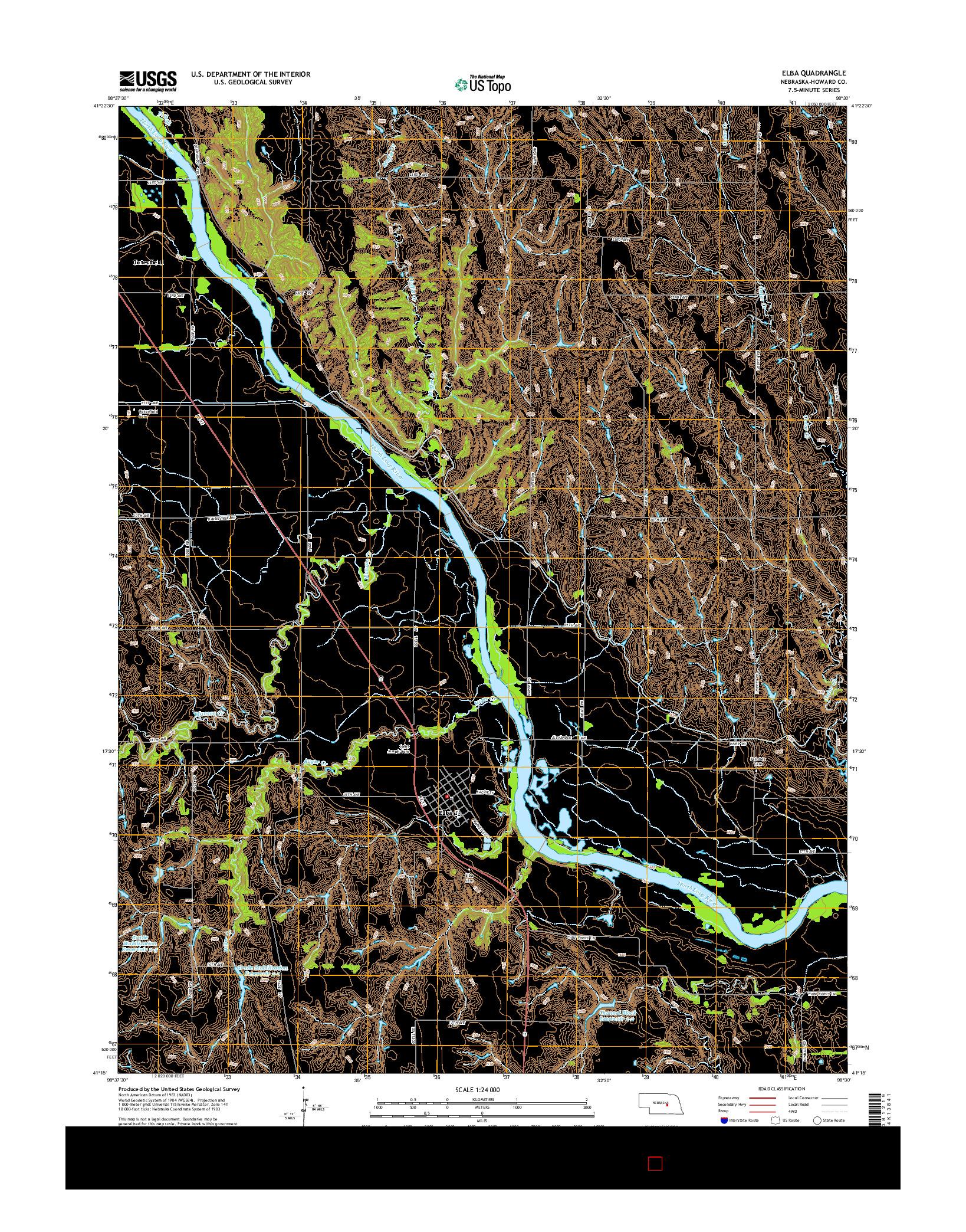 USGS US TOPO 7.5-MINUTE MAP FOR ELBA, NE 2014