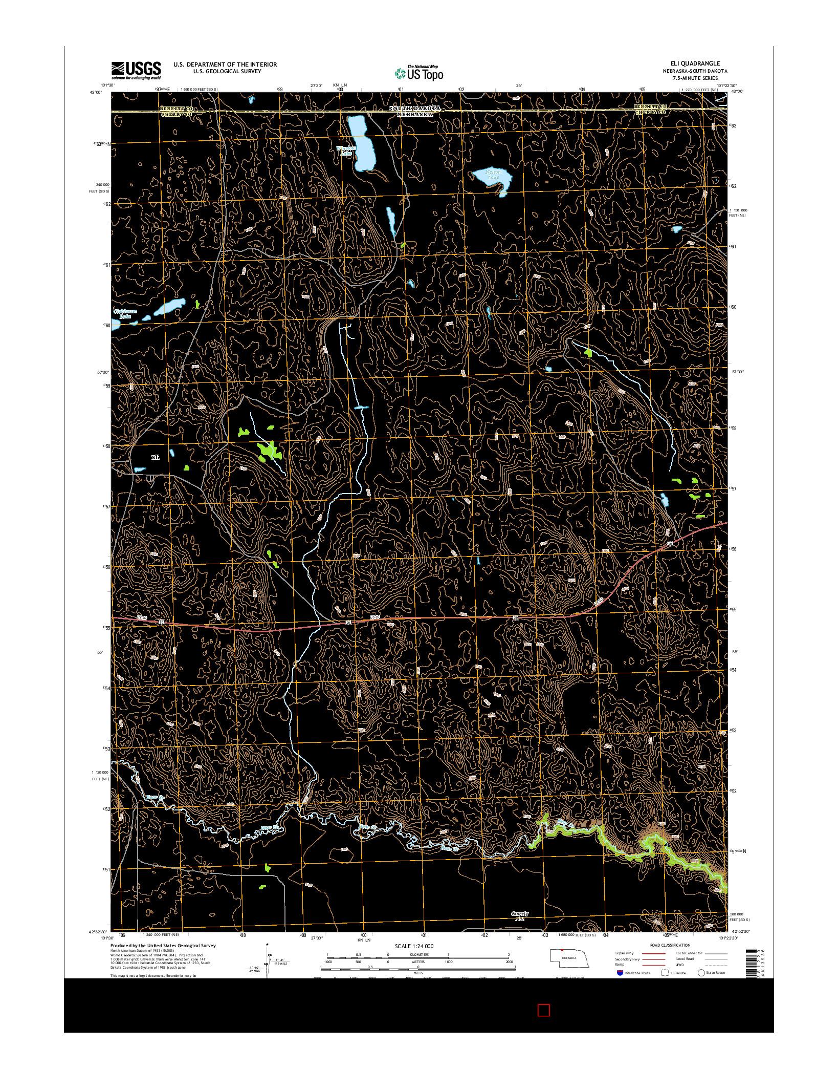 USGS US TOPO 7.5-MINUTE MAP FOR ELI, NE-SD 2014