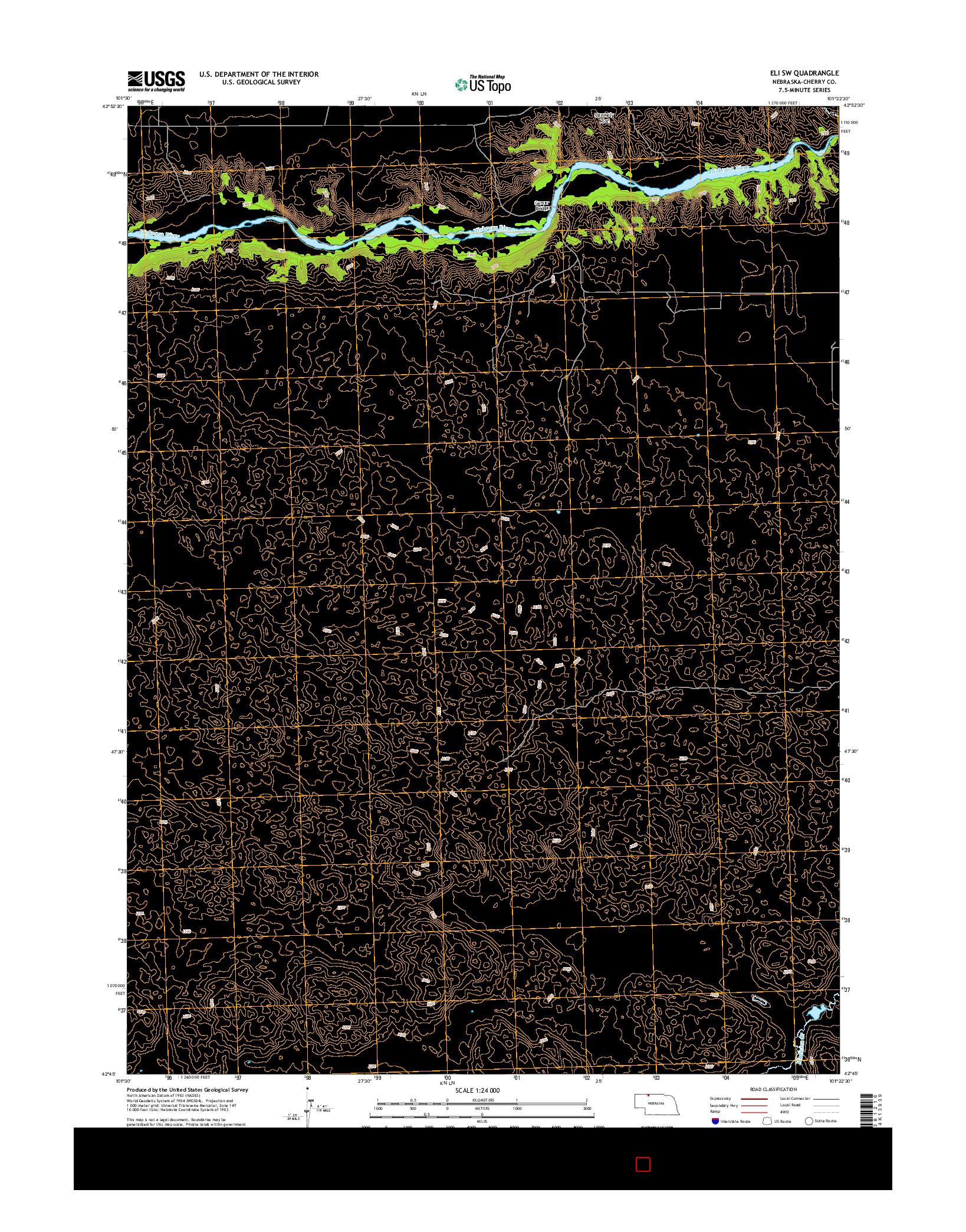 USGS US TOPO 7.5-MINUTE MAP FOR ELI SW, NE 2014
