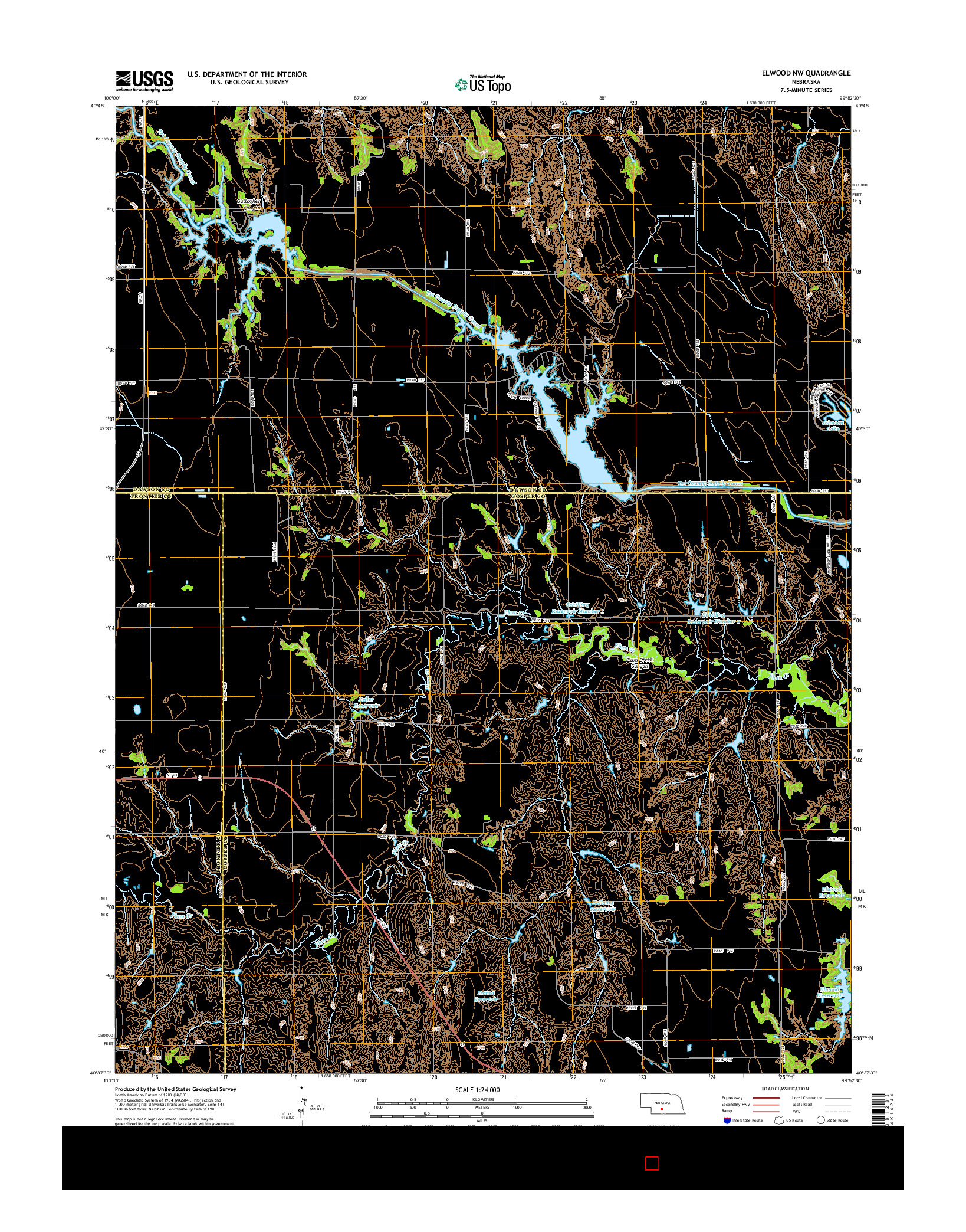 USGS US TOPO 7.5-MINUTE MAP FOR ELWOOD NW, NE 2014