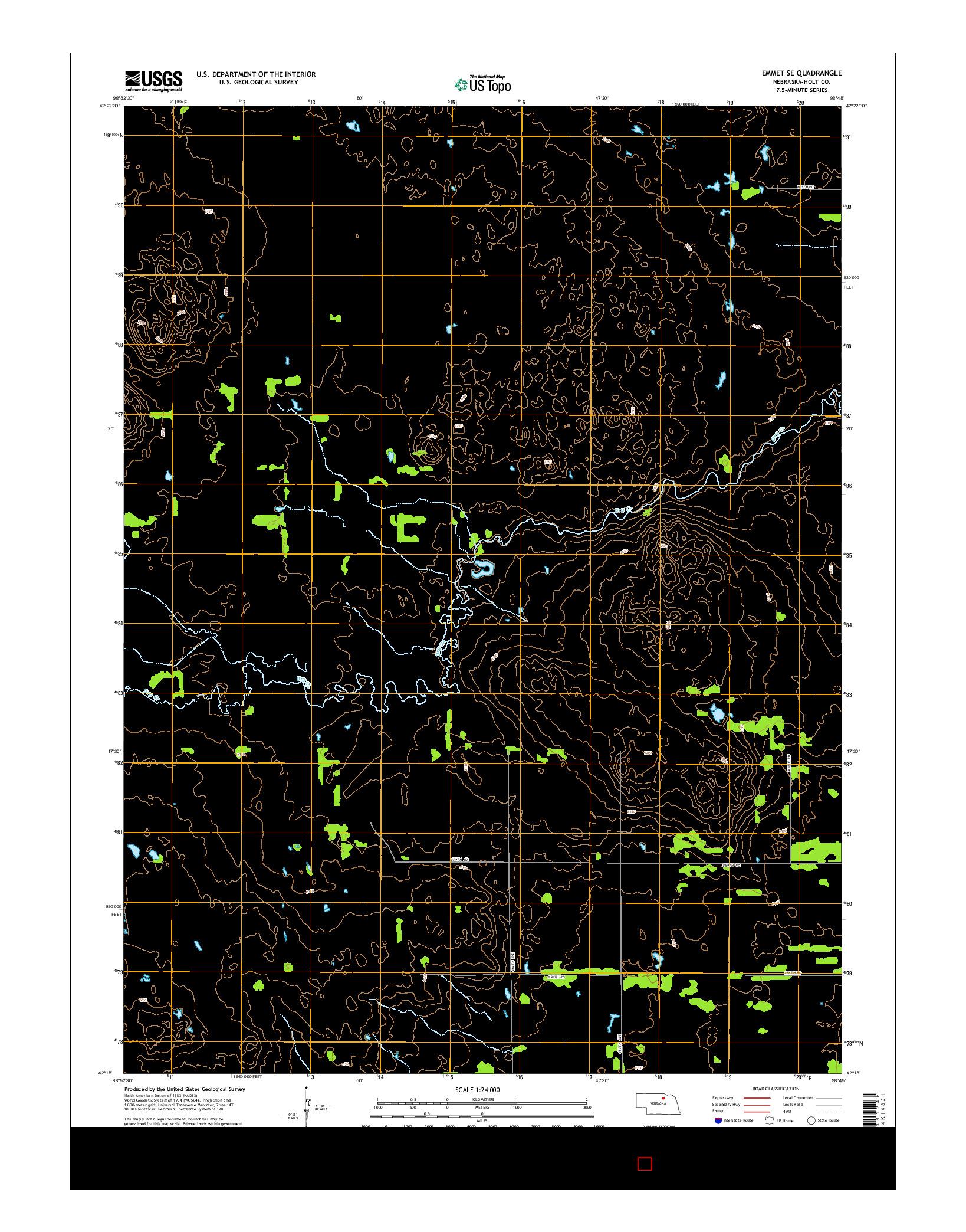 USGS US TOPO 7.5-MINUTE MAP FOR EMMET SE, NE 2014
