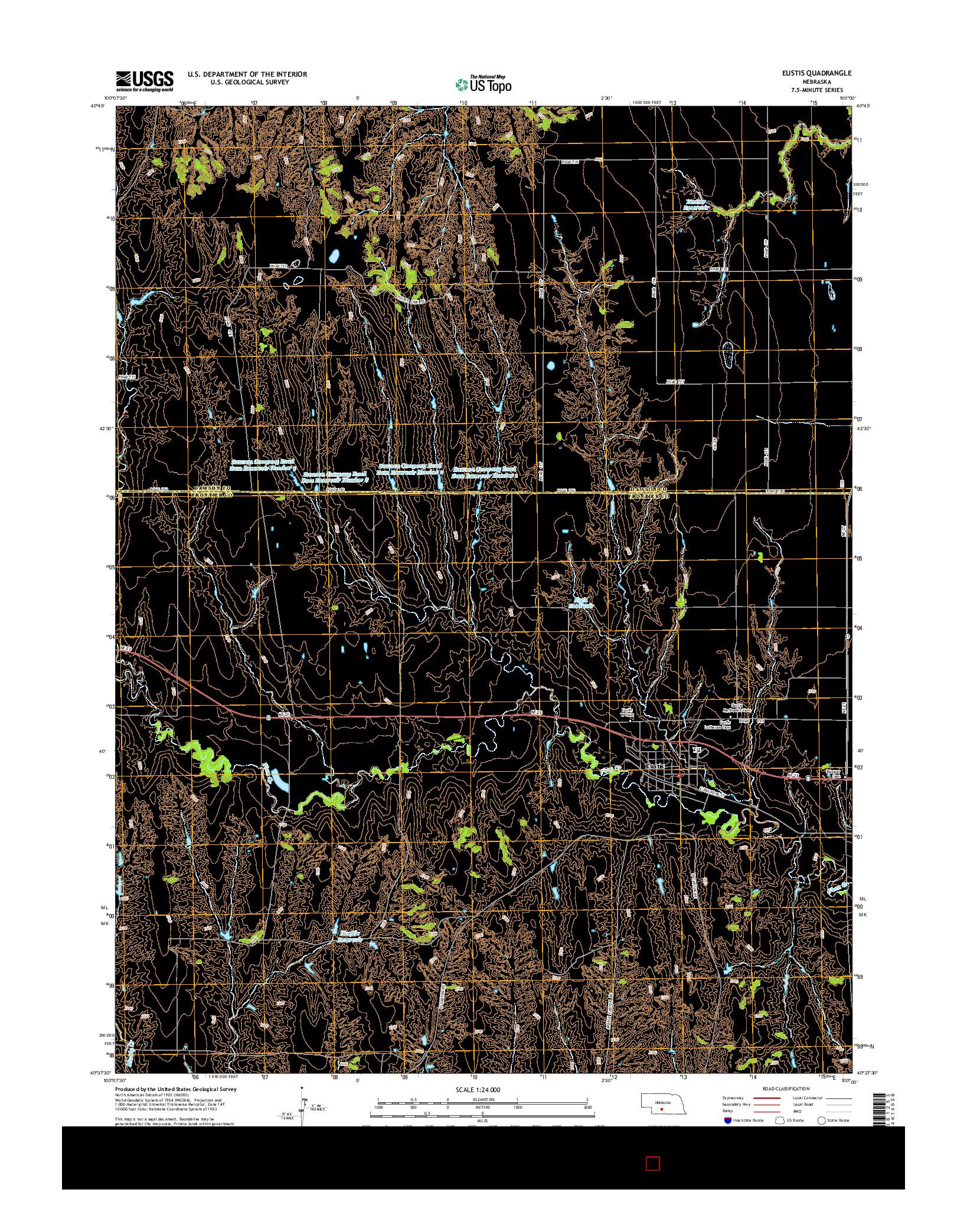USGS US TOPO 7.5-MINUTE MAP FOR EUSTIS, NE 2014