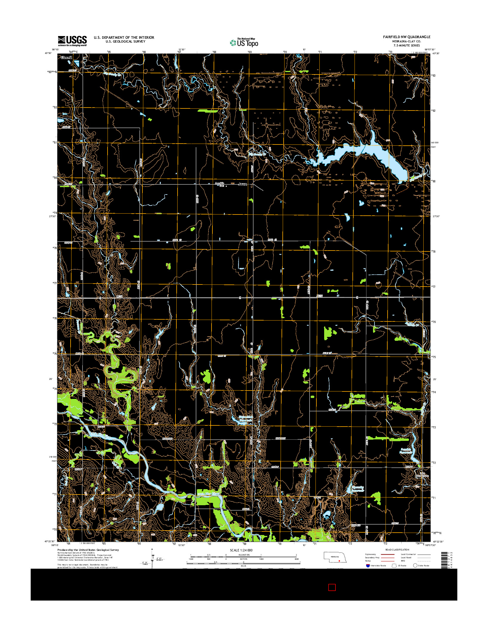 USGS US TOPO 7.5-MINUTE MAP FOR FAIRFIELD NW, NE 2014