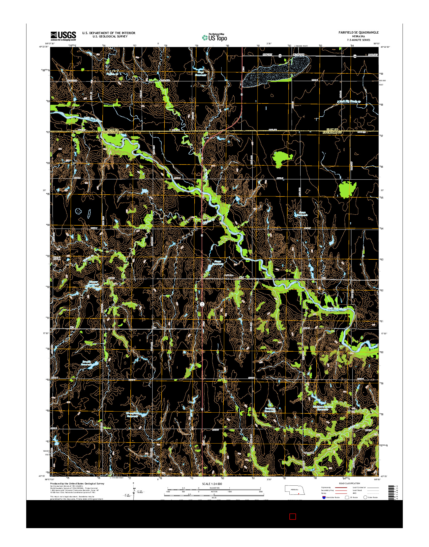 USGS US TOPO 7.5-MINUTE MAP FOR FAIRFIELD SE, NE 2014