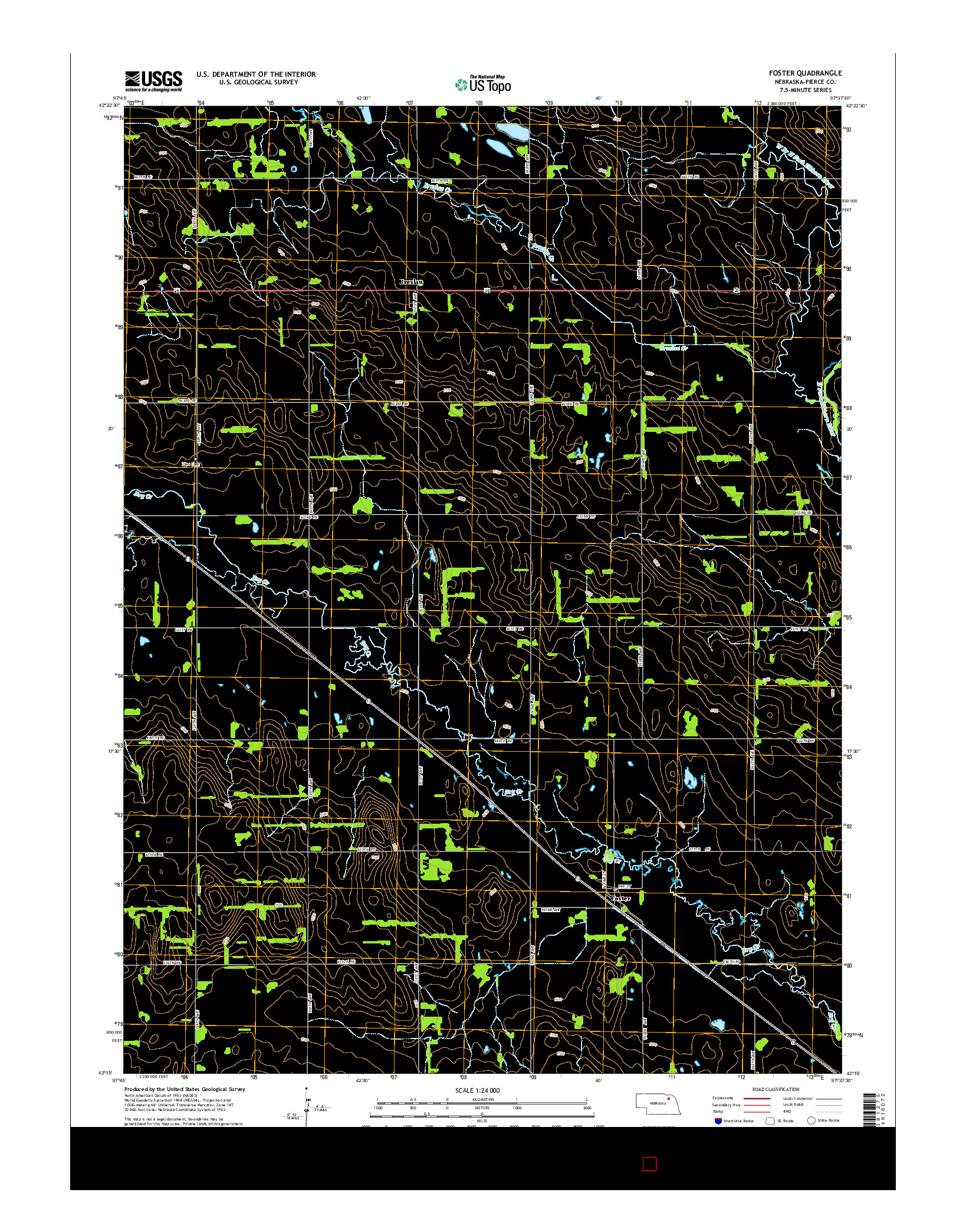 USGS US TOPO 7.5-MINUTE MAP FOR FOSTER, NE 2014
