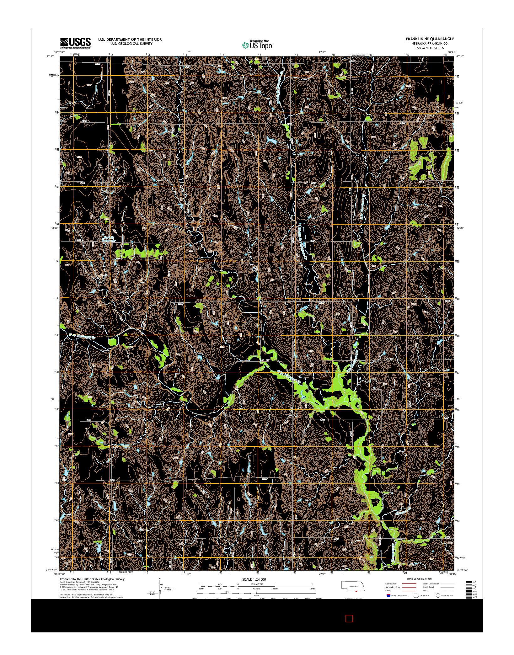 USGS US TOPO 7.5-MINUTE MAP FOR FRANKLIN NE, NE 2014