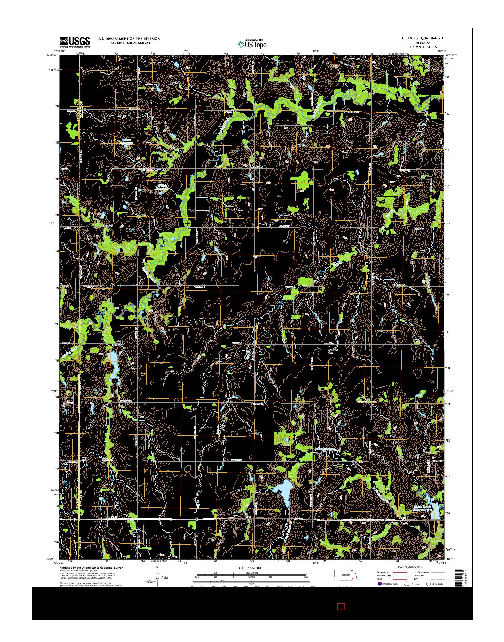 USGS US TOPO 7.5-MINUTE MAP FOR FRIEND SE, NE 2014