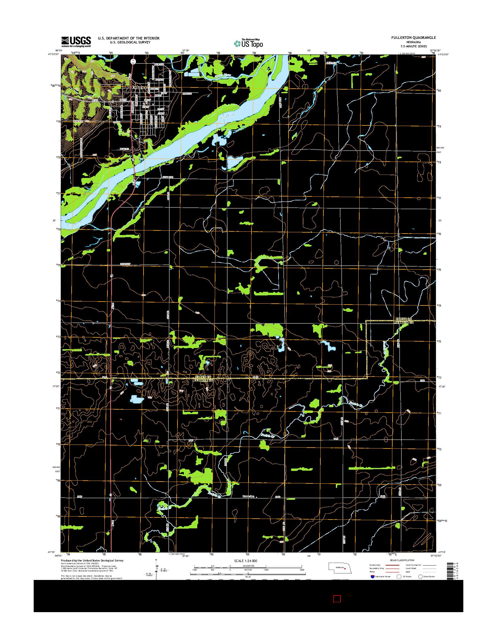 USGS US TOPO 7.5-MINUTE MAP FOR FULLERTON, NE 2014