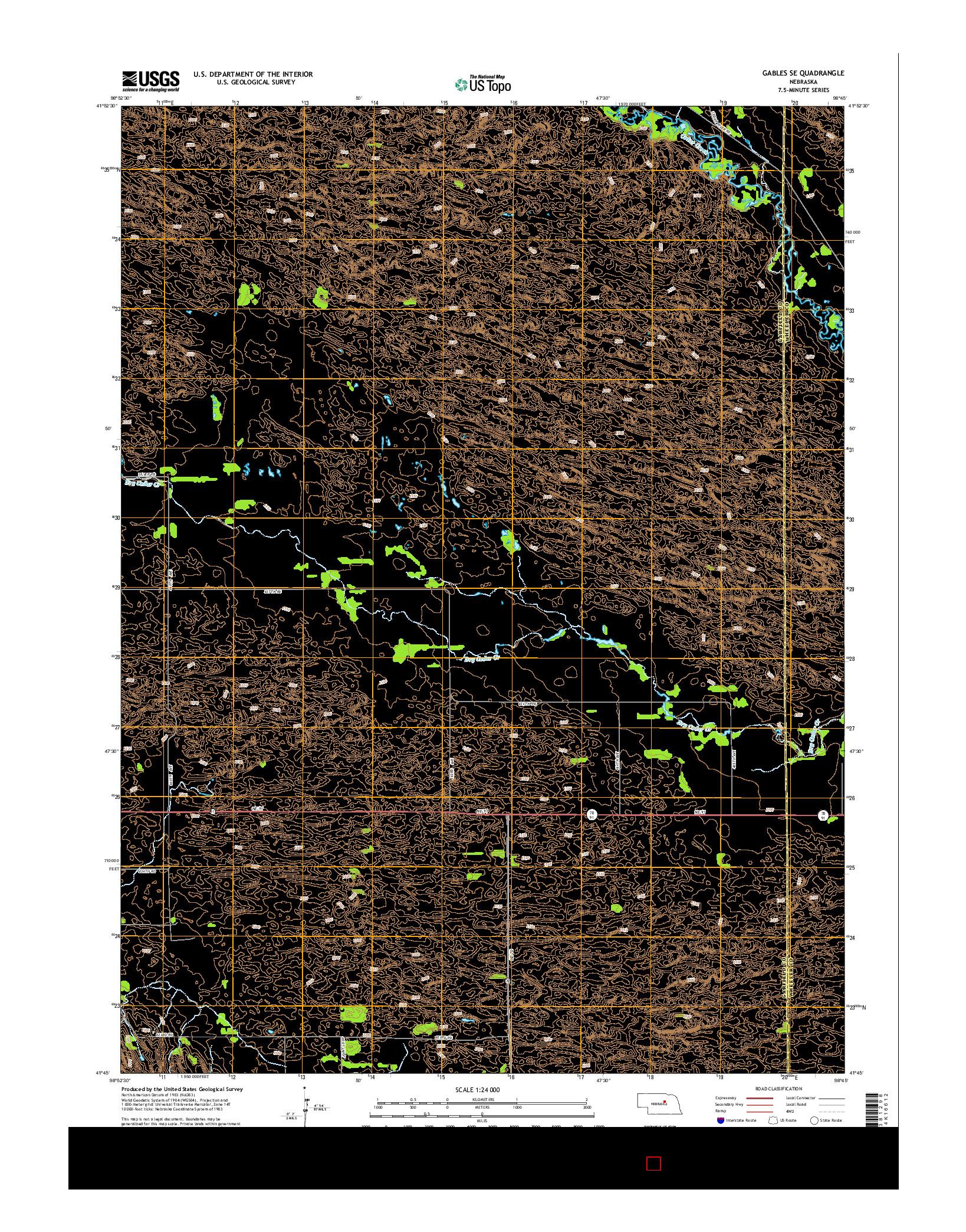 USGS US TOPO 7.5-MINUTE MAP FOR GABLES SE, NE 2014