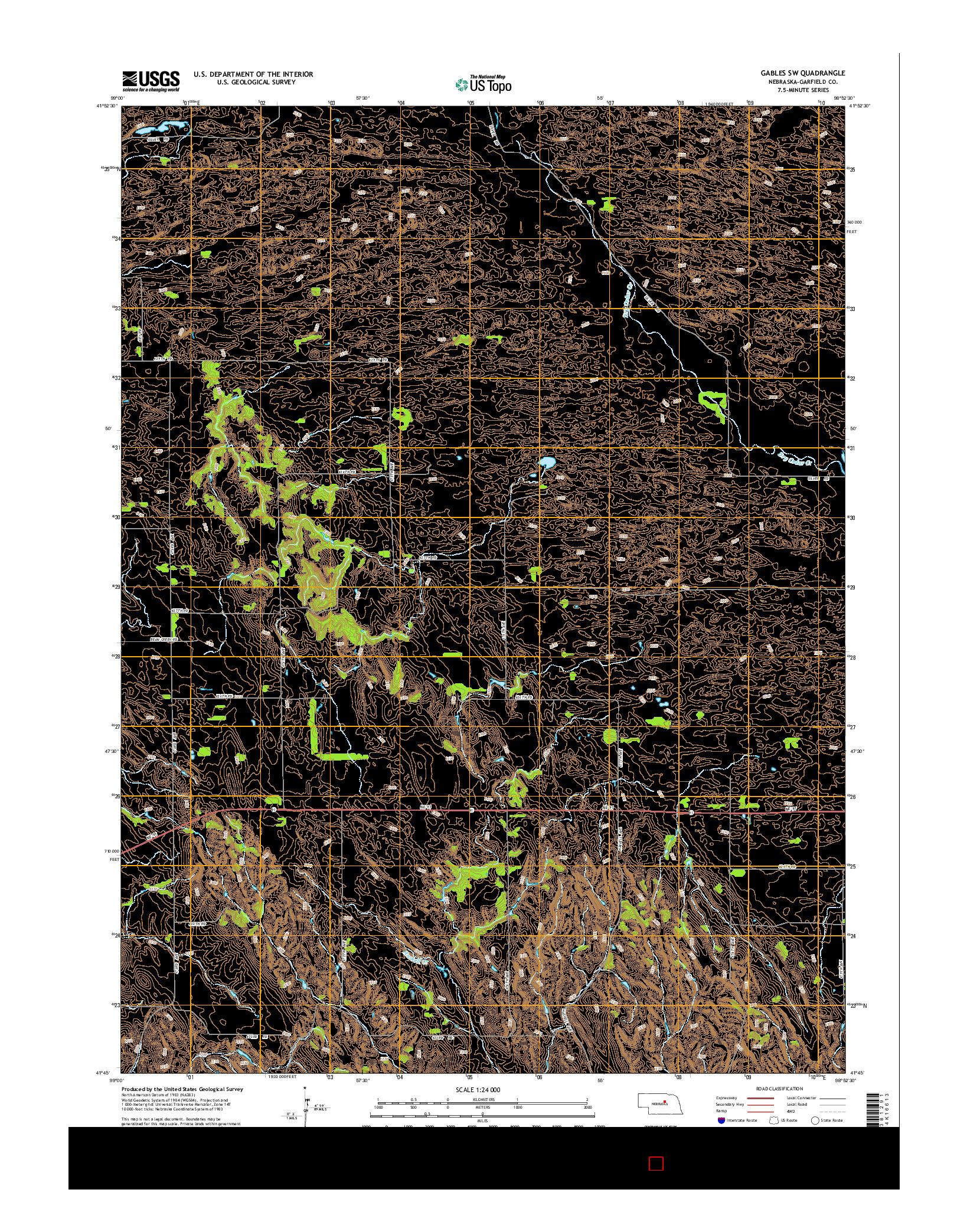 USGS US TOPO 7.5-MINUTE MAP FOR GABLES SW, NE 2014