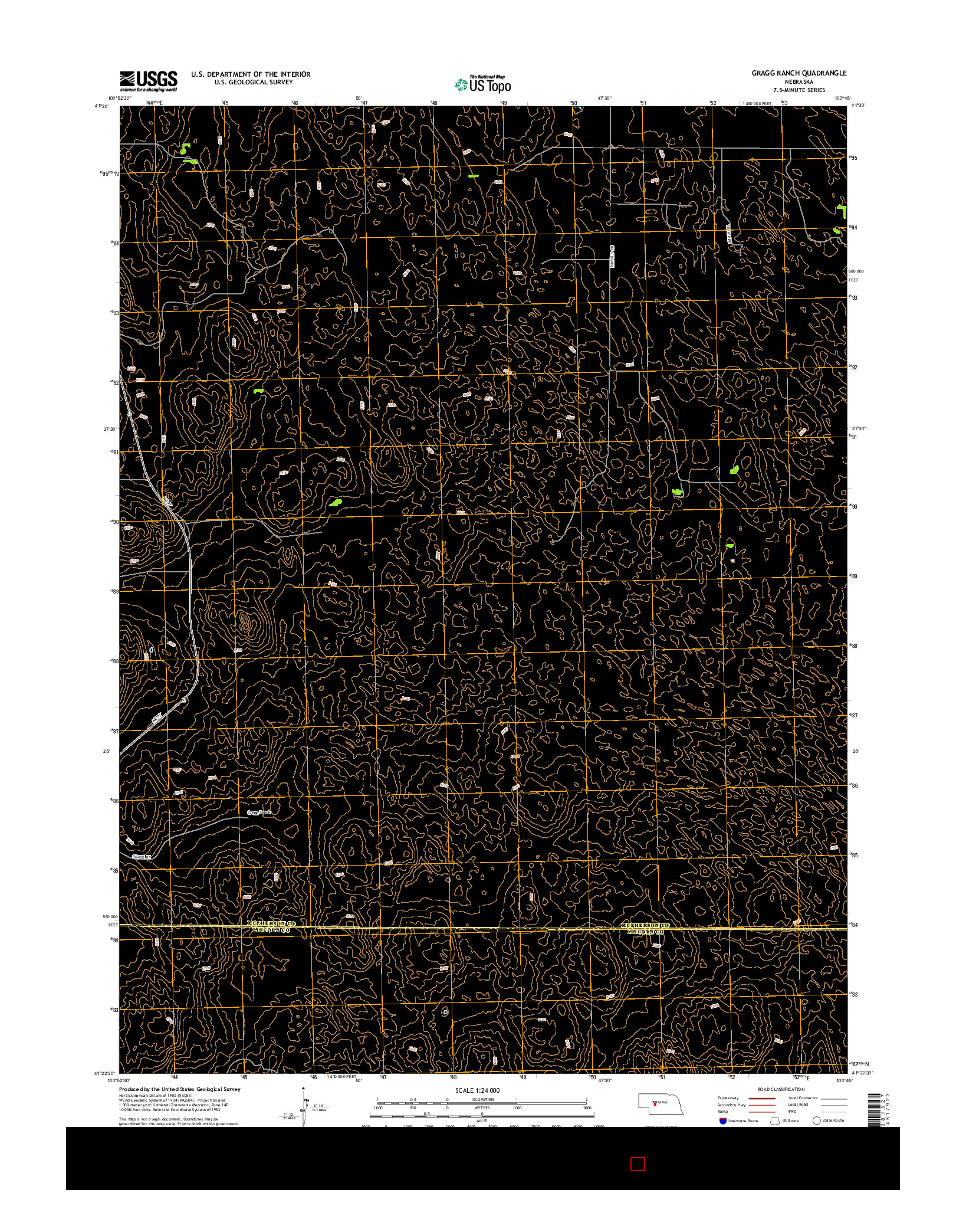 USGS US TOPO 7.5-MINUTE MAP FOR GRAGG RANCH, NE 2014