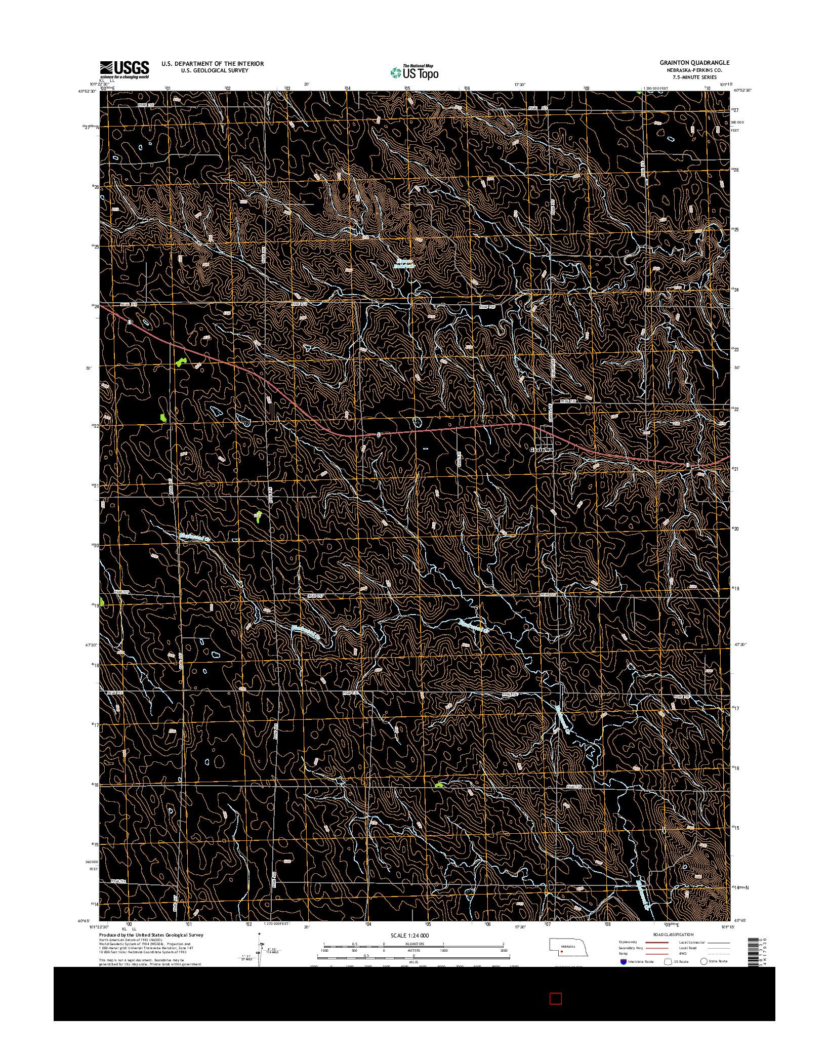 USGS US TOPO 7.5-MINUTE MAP FOR GRAINTON, NE 2014