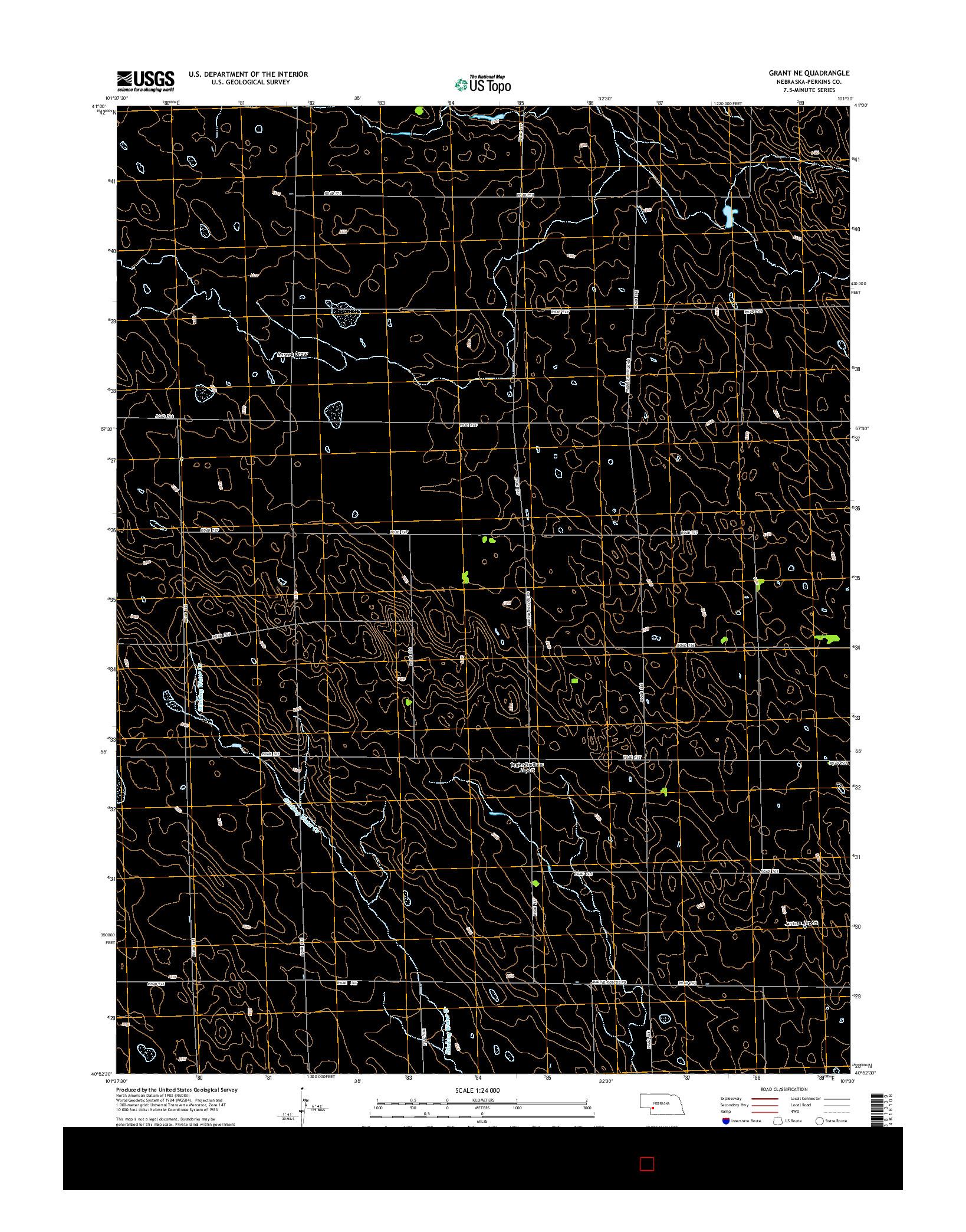USGS US TOPO 7.5-MINUTE MAP FOR GRANT NE, NE 2014