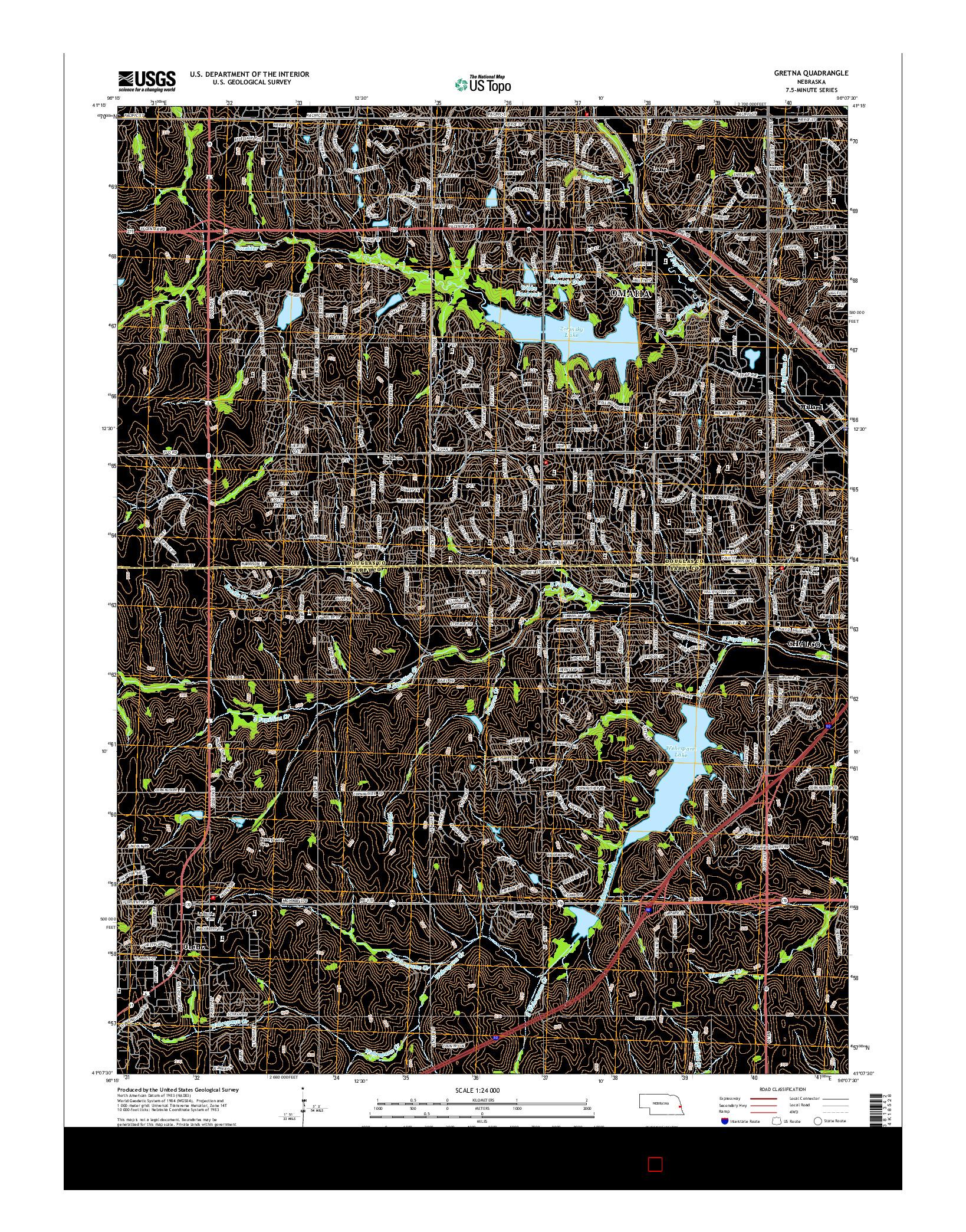 USGS US TOPO 7.5-MINUTE MAP FOR GRETNA, NE 2014