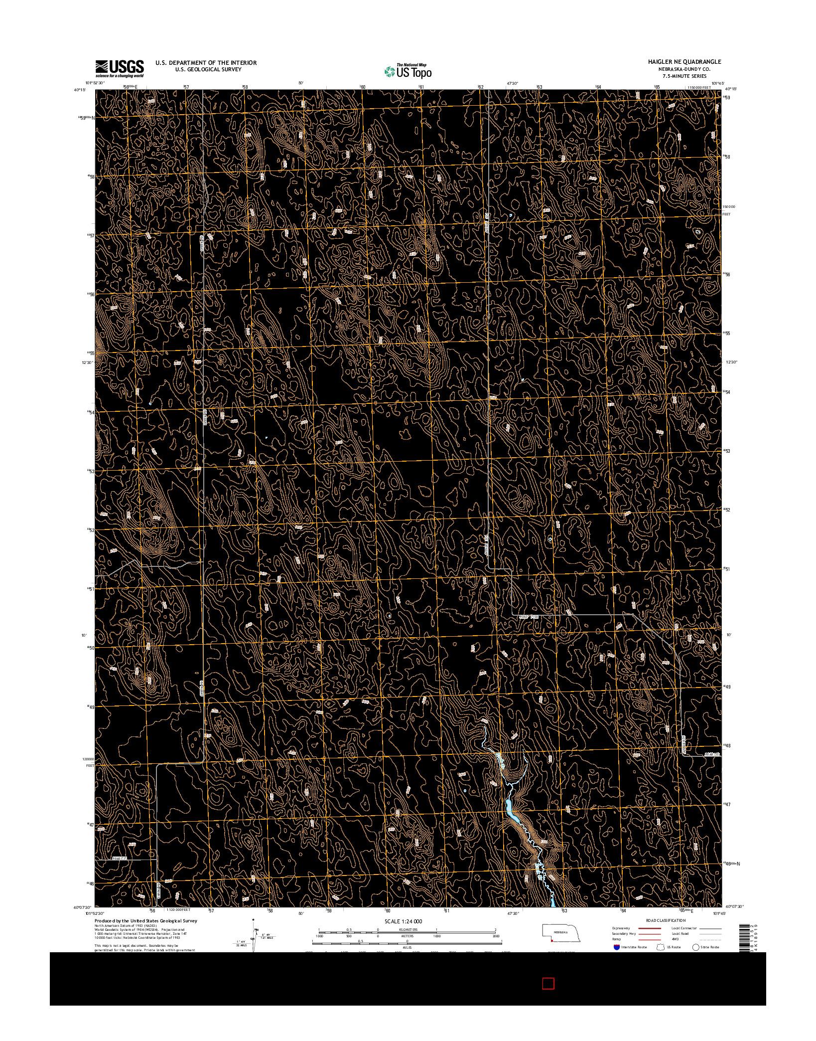 USGS US TOPO 7.5-MINUTE MAP FOR HAIGLER NE, NE 2014