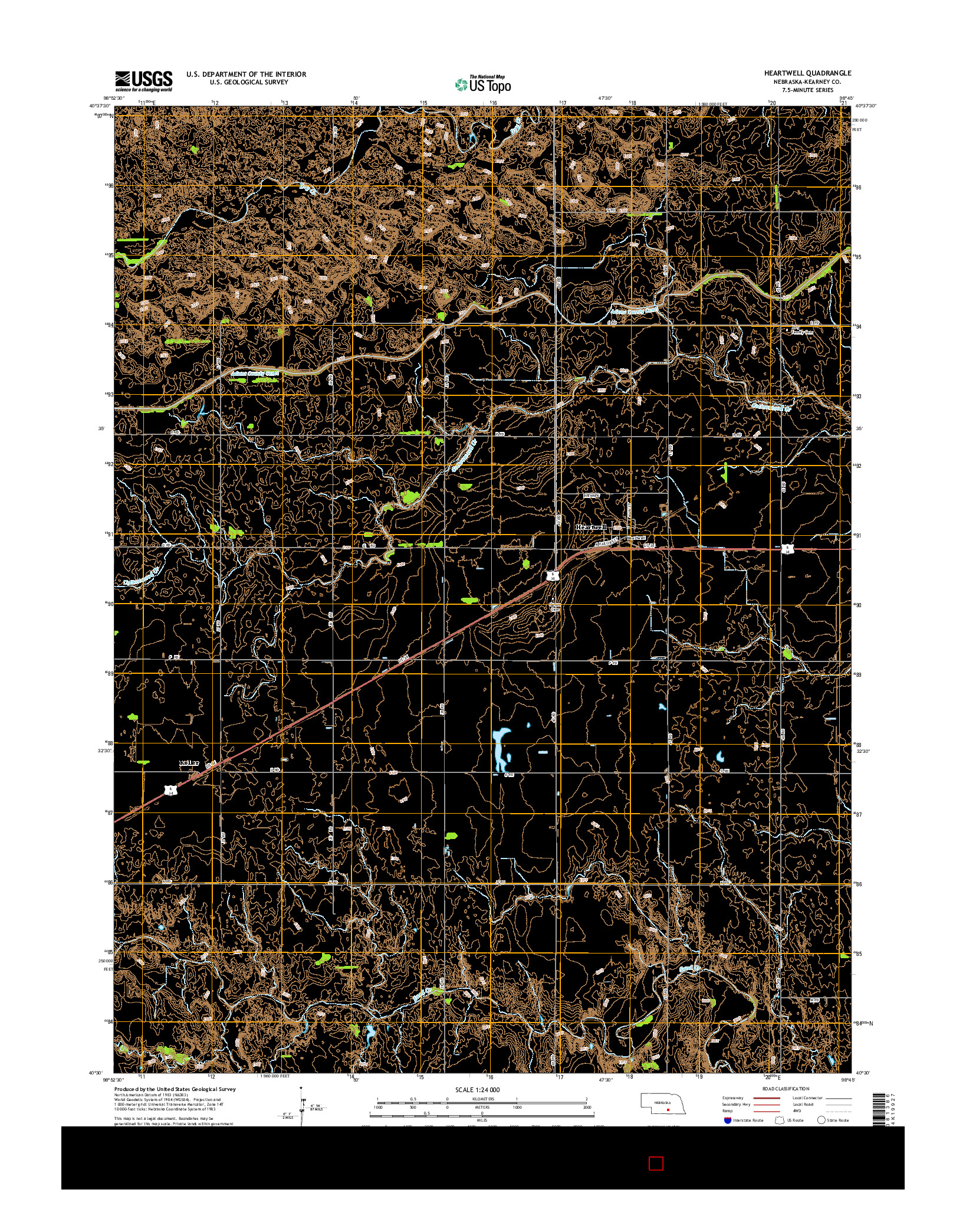 USGS US TOPO 7.5-MINUTE MAP FOR HEARTWELL, NE 2014