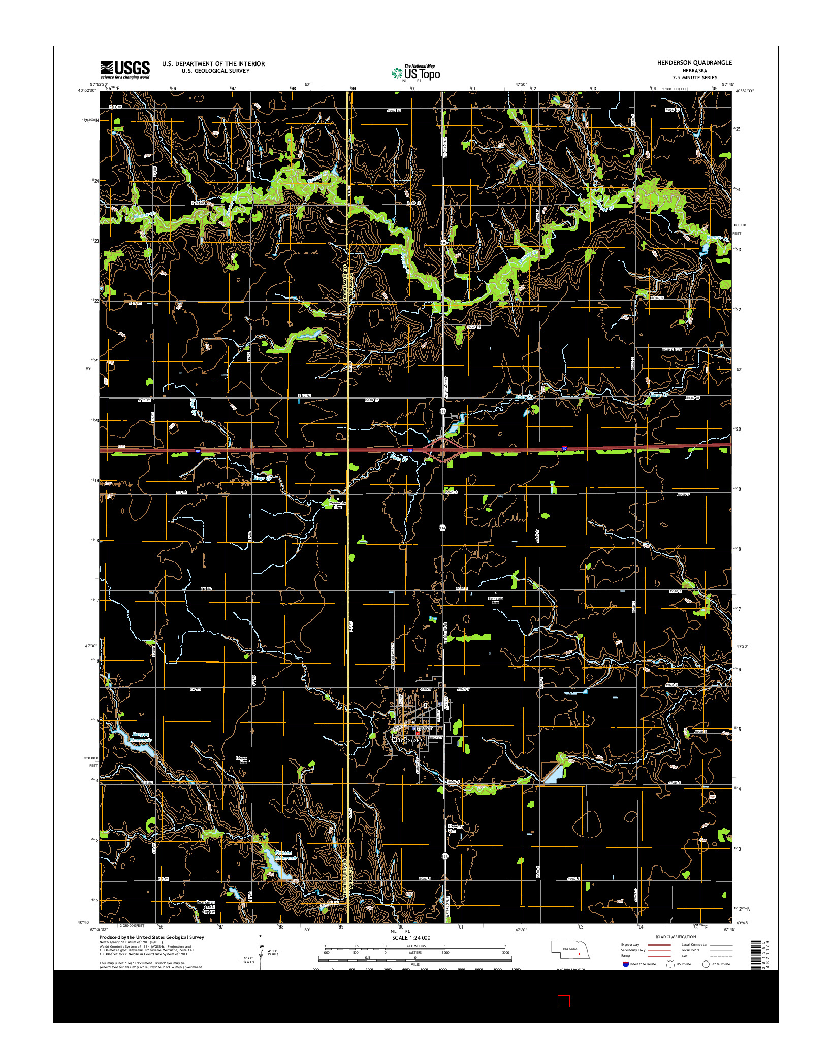 USGS US TOPO 7.5-MINUTE MAP FOR HENDERSON, NE 2014