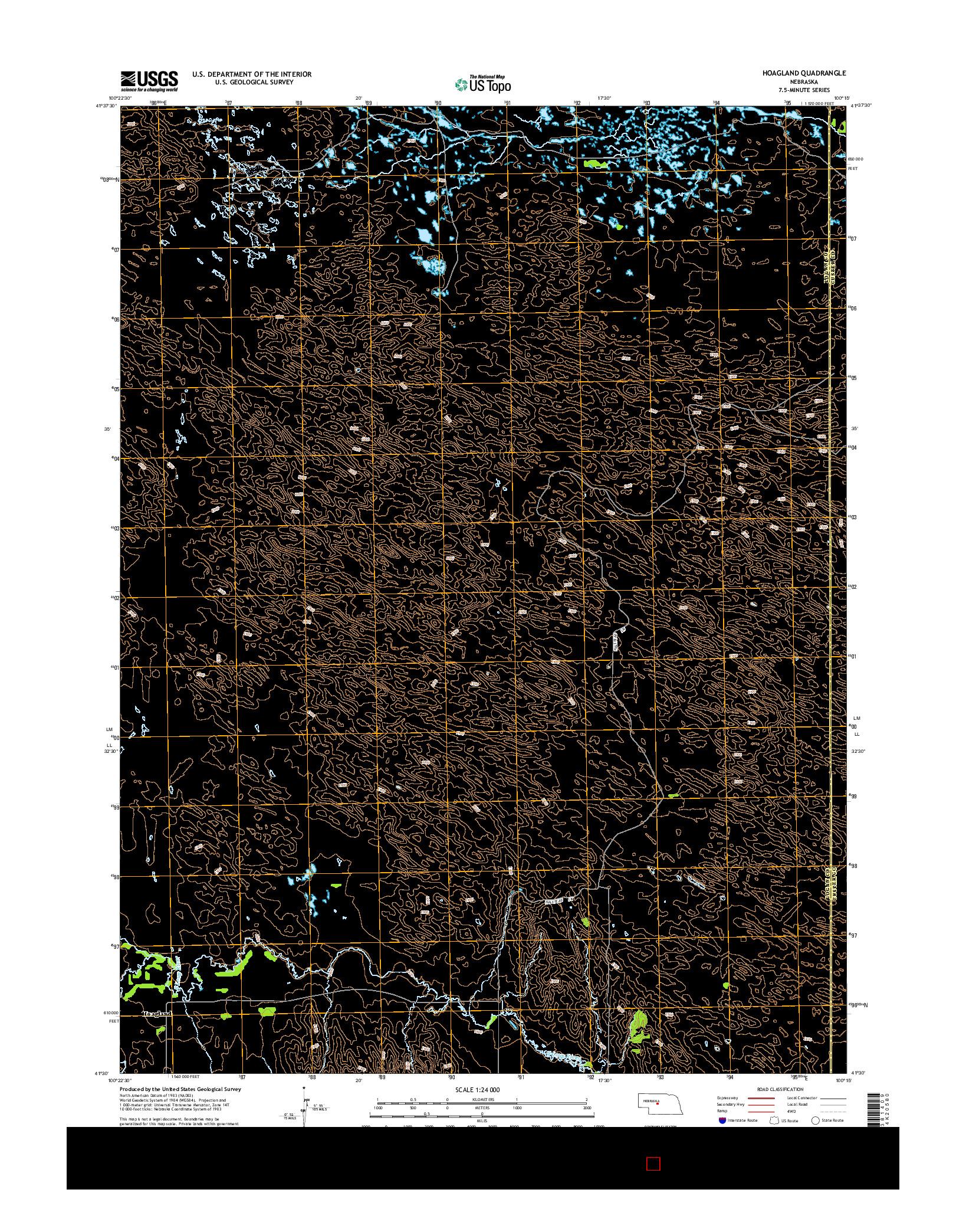 USGS US TOPO 7.5-MINUTE MAP FOR HOAGLAND, NE 2014
