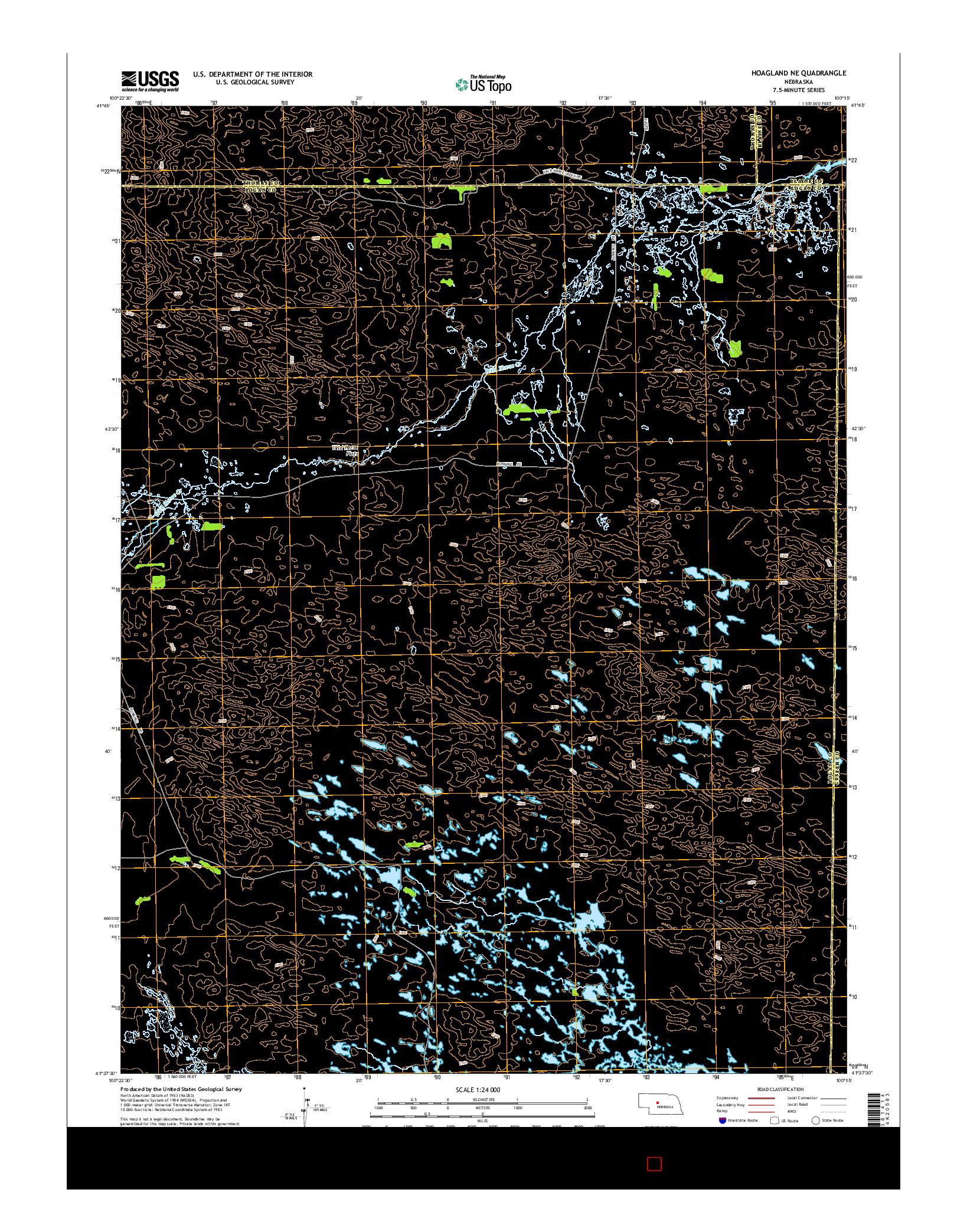 USGS US TOPO 7.5-MINUTE MAP FOR HOAGLAND NE, NE 2014