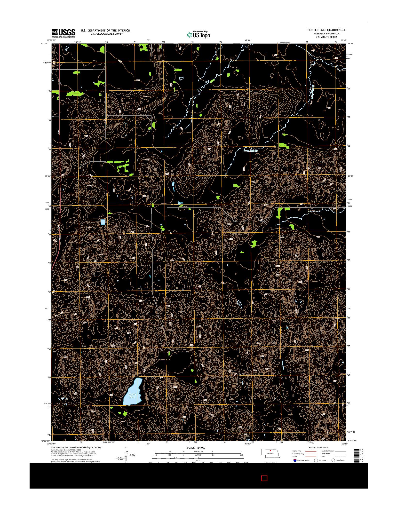 USGS US TOPO 7.5-MINUTE MAP FOR HOFELD LAKE, NE 2014