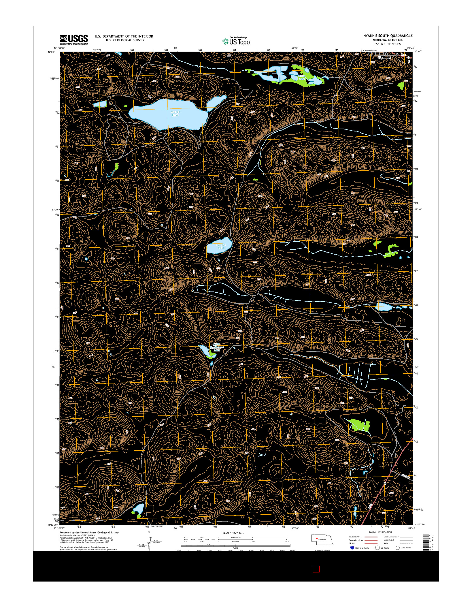 USGS US TOPO 7.5-MINUTE MAP FOR HYANNIS SOUTH, NE 2014