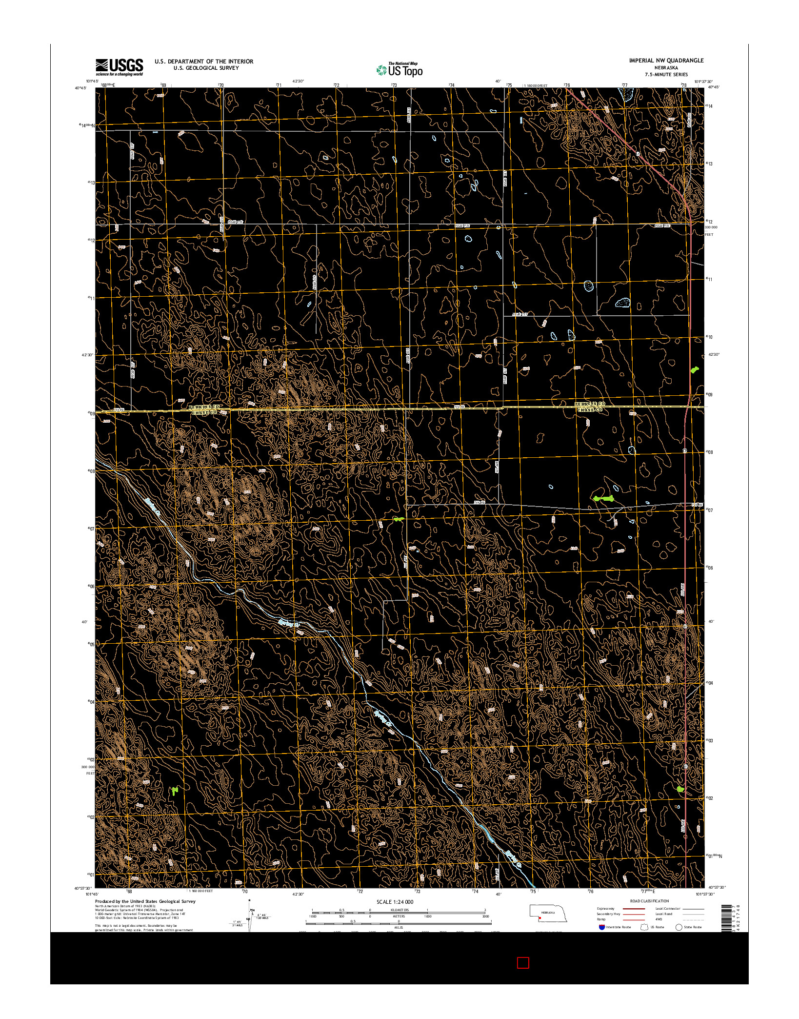 USGS US TOPO 7.5-MINUTE MAP FOR IMPERIAL NW, NE 2014