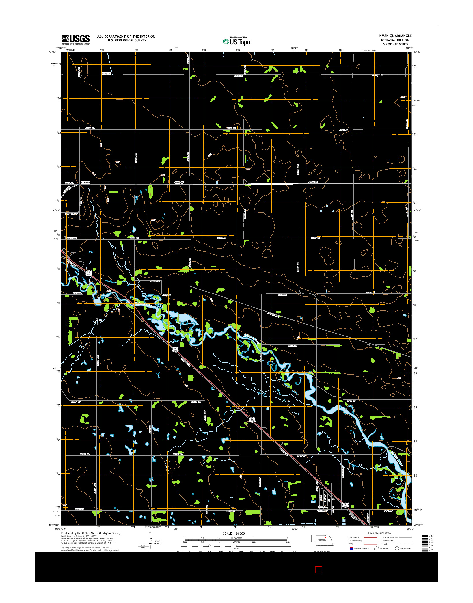 USGS US TOPO 7.5-MINUTE MAP FOR INMAN, NE 2014
