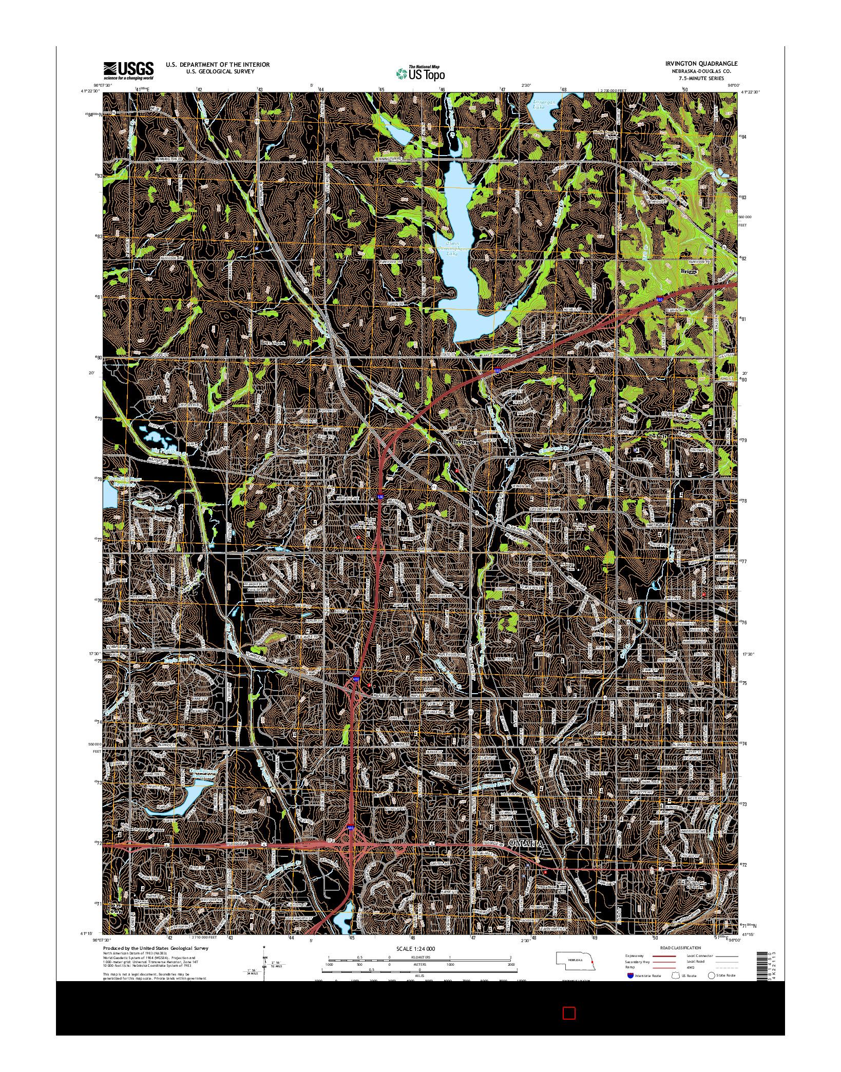 USGS US TOPO 7.5-MINUTE MAP FOR IRVINGTON, NE 2014