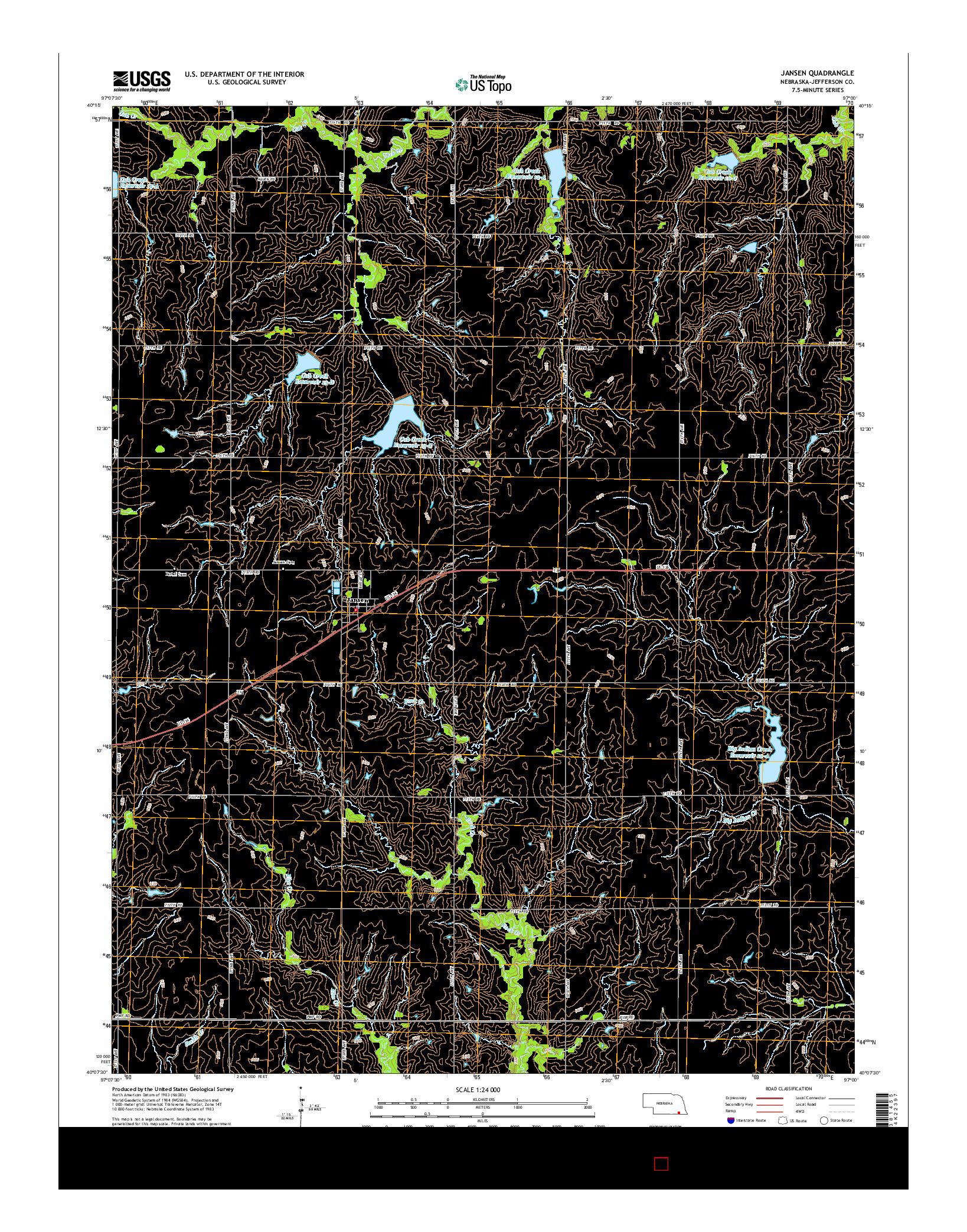 USGS US TOPO 7.5-MINUTE MAP FOR JANSEN, NE 2014
