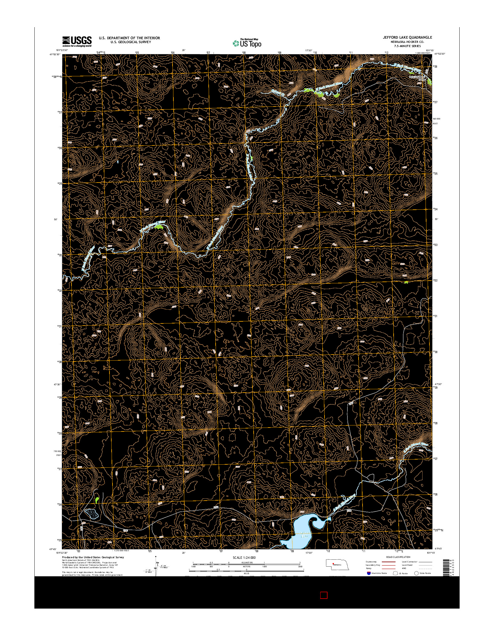 USGS US TOPO 7.5-MINUTE MAP FOR JEFFORD LAKE, NE 2014