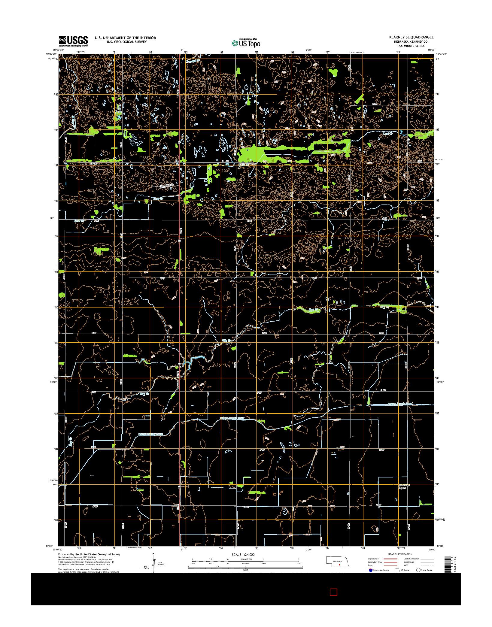 USGS US TOPO 7.5-MINUTE MAP FOR KEARNEY SE, NE 2014
