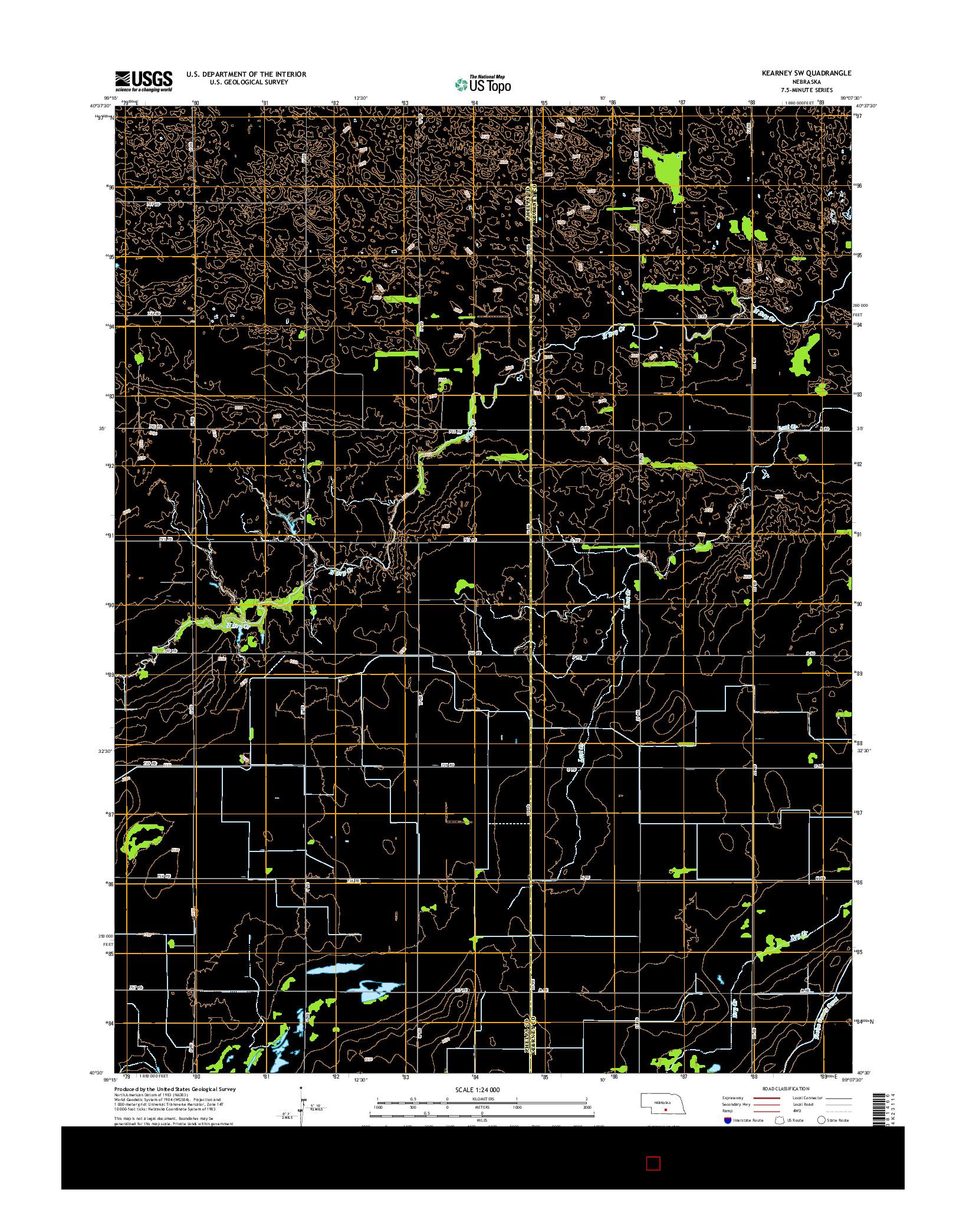 USGS US TOPO 7.5-MINUTE MAP FOR KEARNEY SW, NE 2014